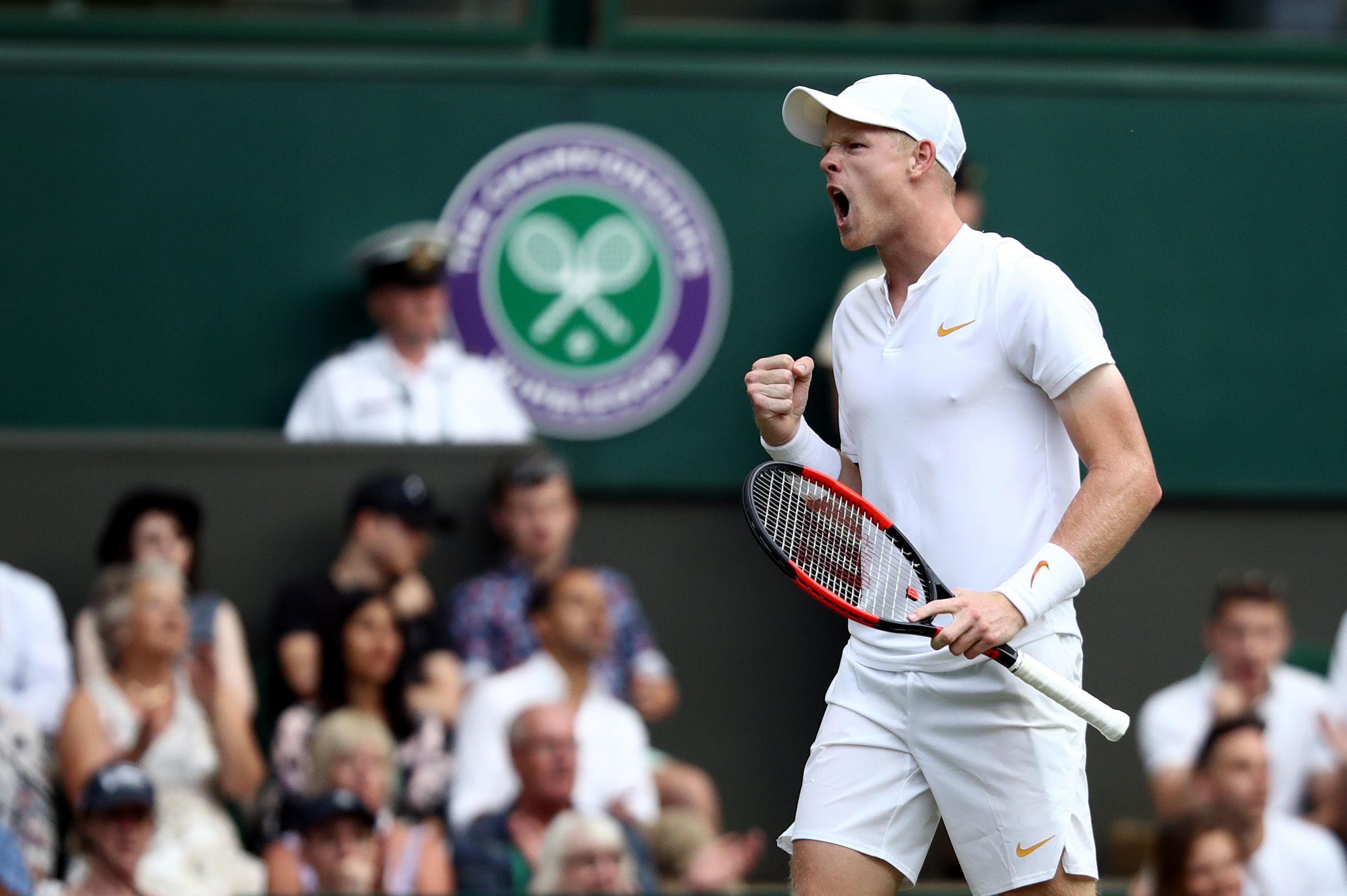 Kyle Edmund served brilliantly and held his nerve on the big points