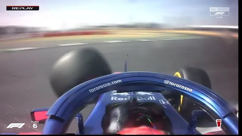 Brendon Hartley flew into the barriers at 200mph