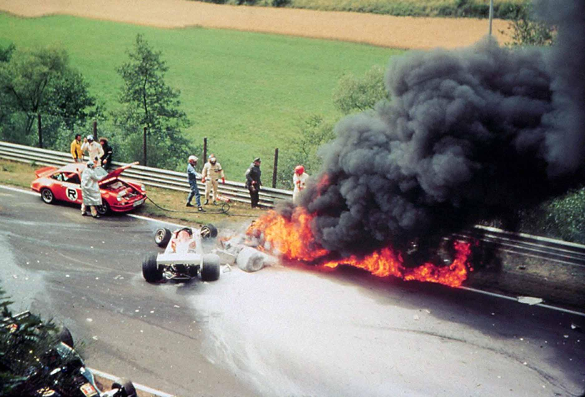Lauda suffered lung damage in the accident, and was not expected to survive