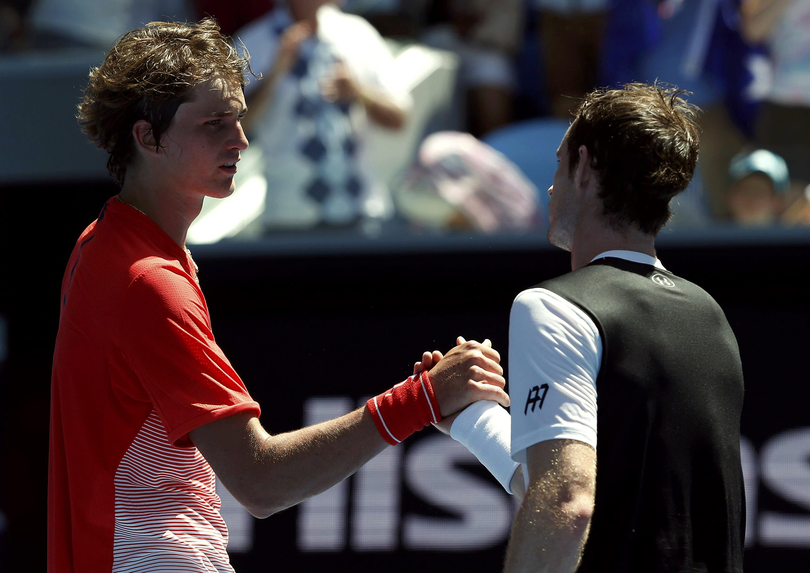 Murray beat Zverev in the first round of the Australian Open in 2016