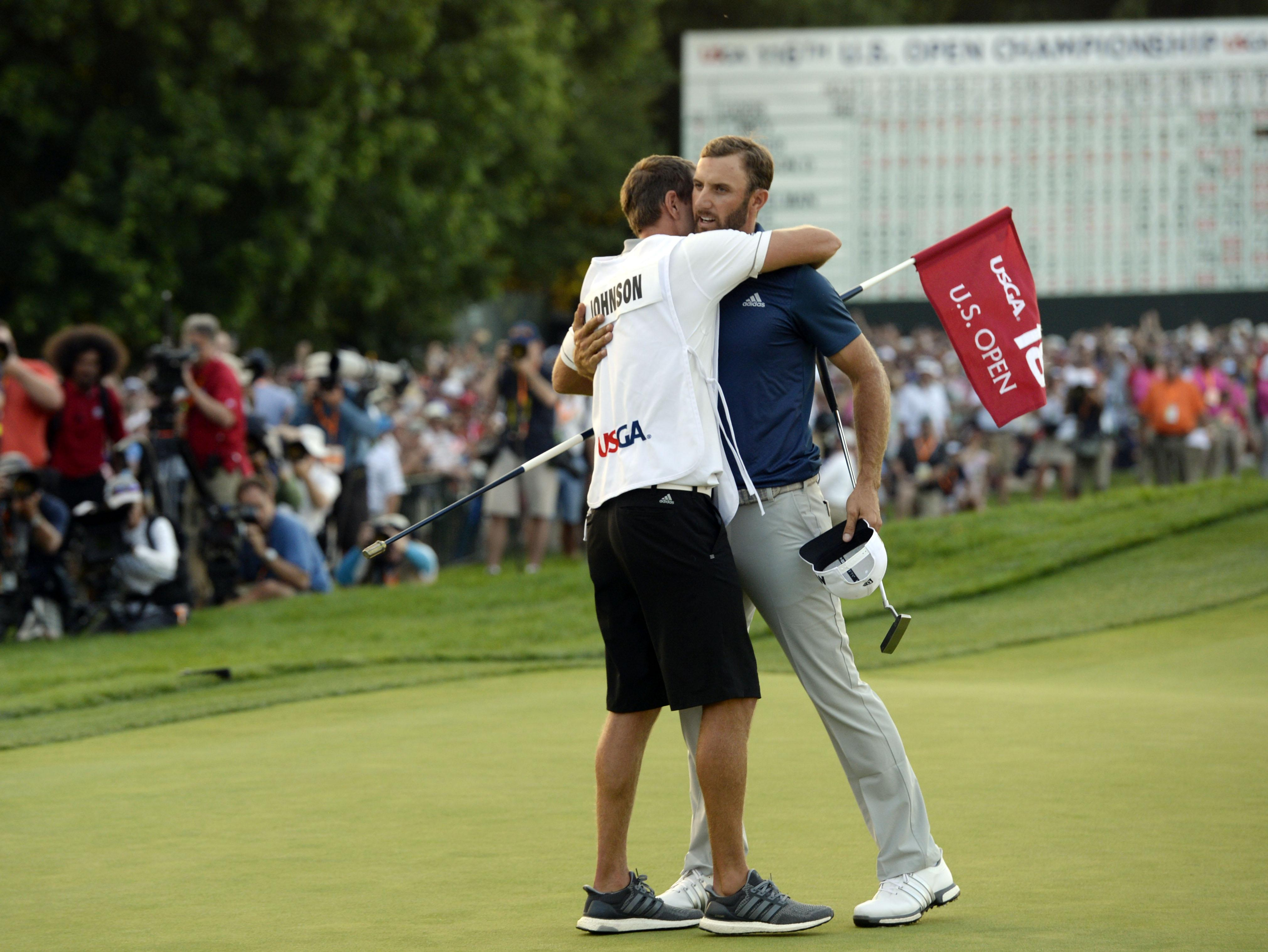 The pair worked together when Dustin won the 2016 US Open at Oakmont