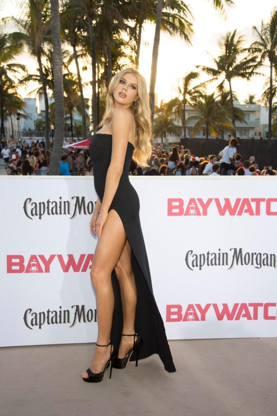 Charlotte at the red carpet arrivals at the 'Baywatch' world premiere in Florida