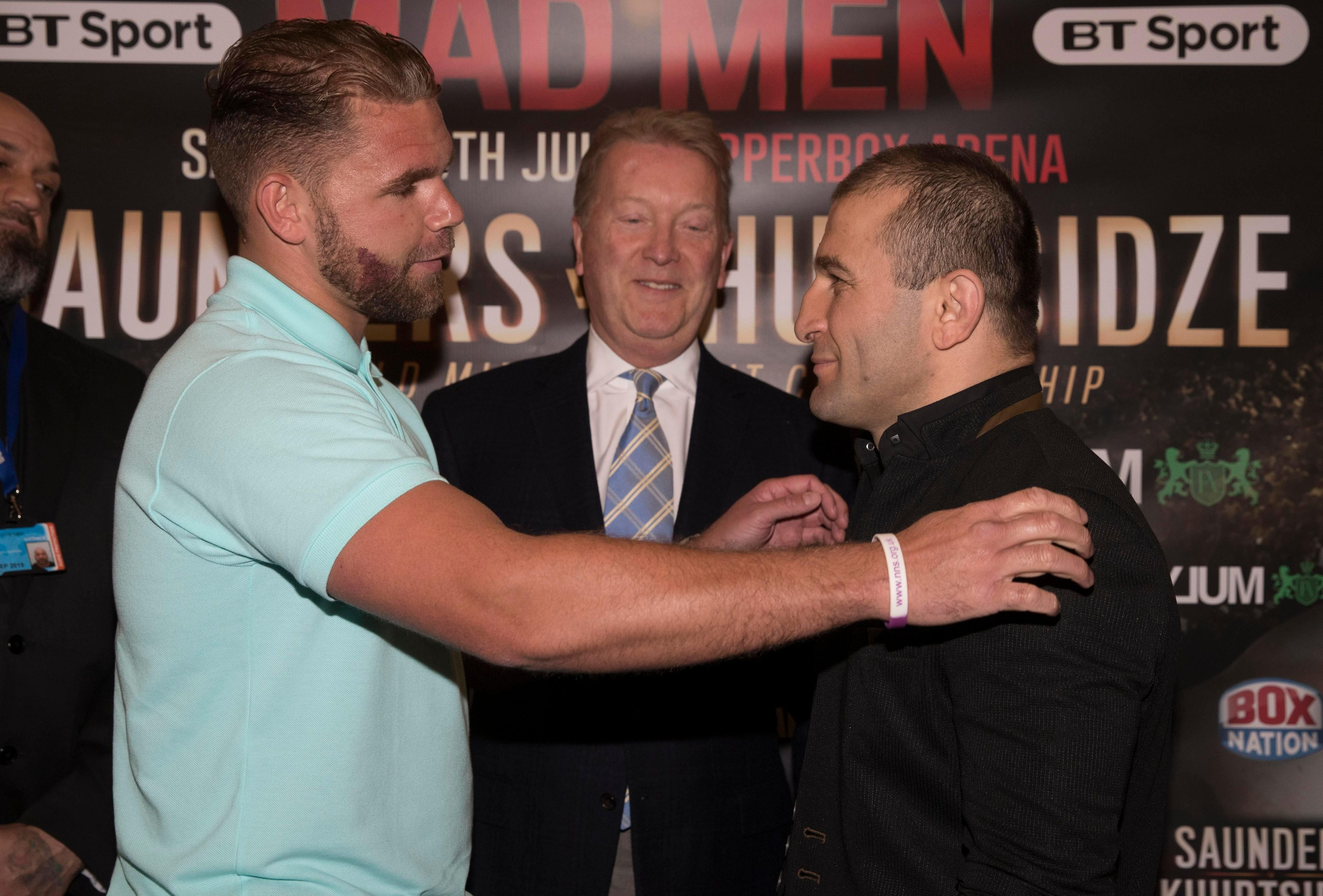 The Georgian was due to fight Billy Joe Saunders in 2017