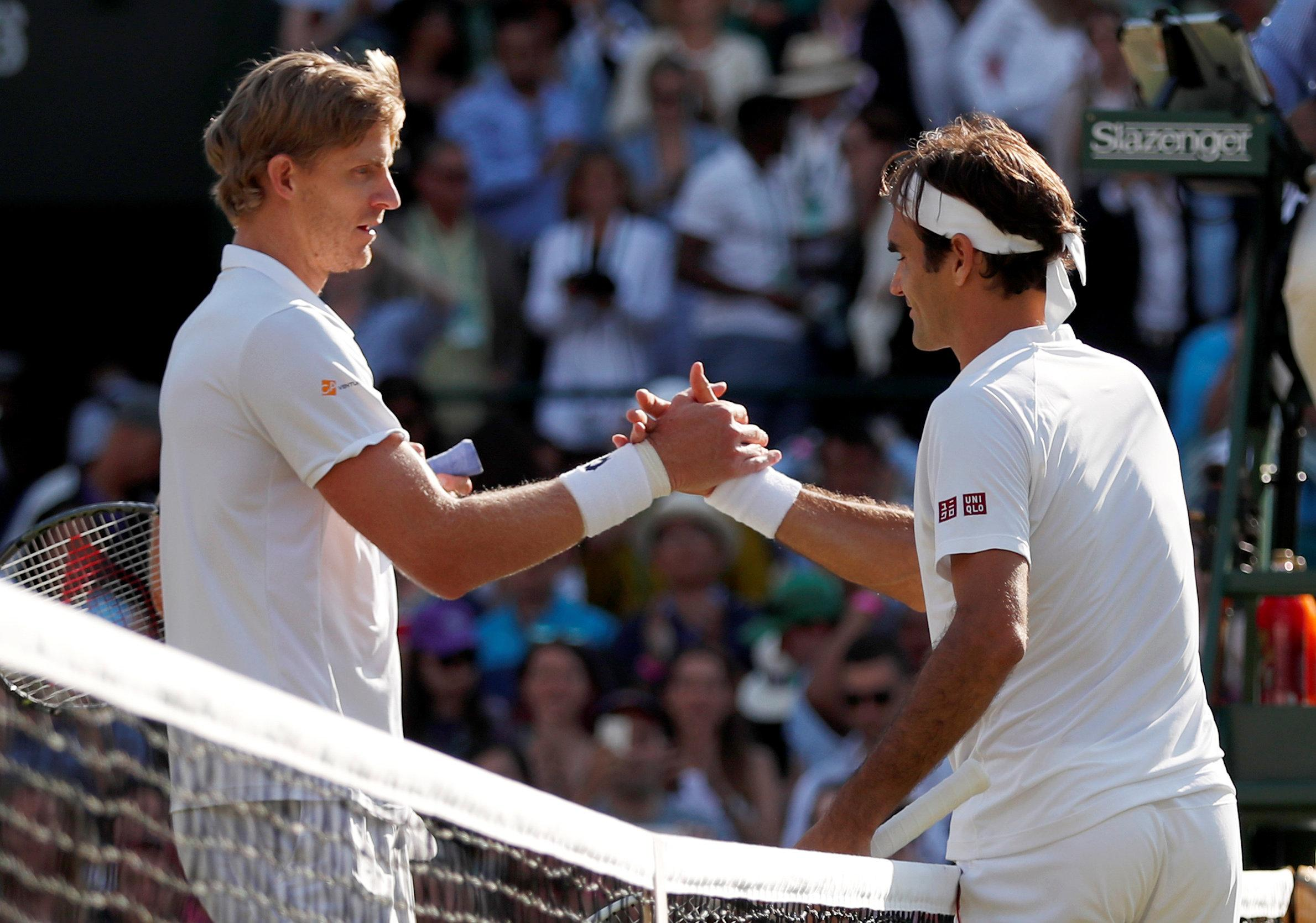 Federer may face his Wimbledon conqueror Kevin Anderson in the semi-finals next week
