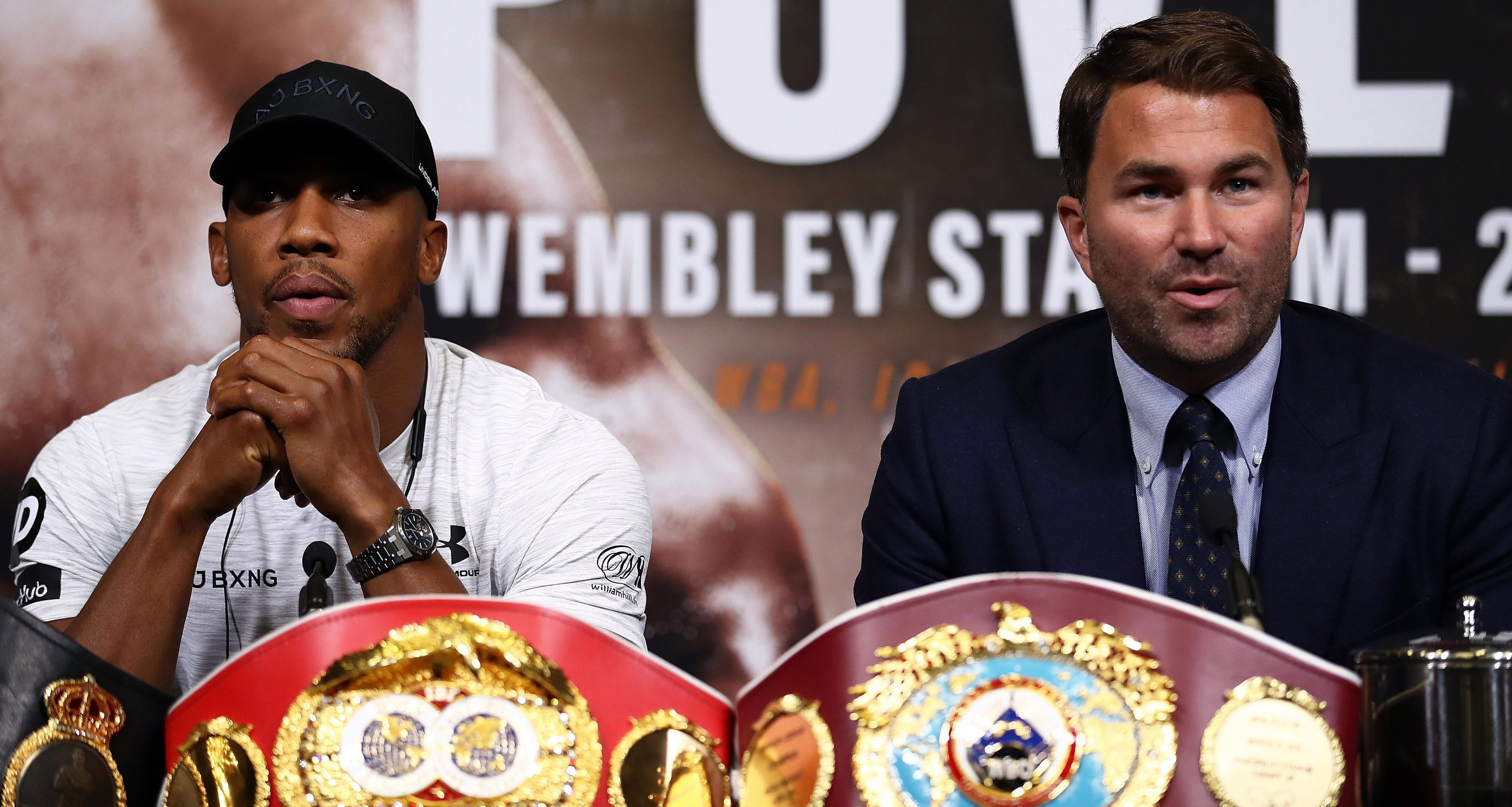 Anthony Joshua has been told by Lennox Lewis to make his promoter Eddie Hearn set up a fight with Deontay Wilder