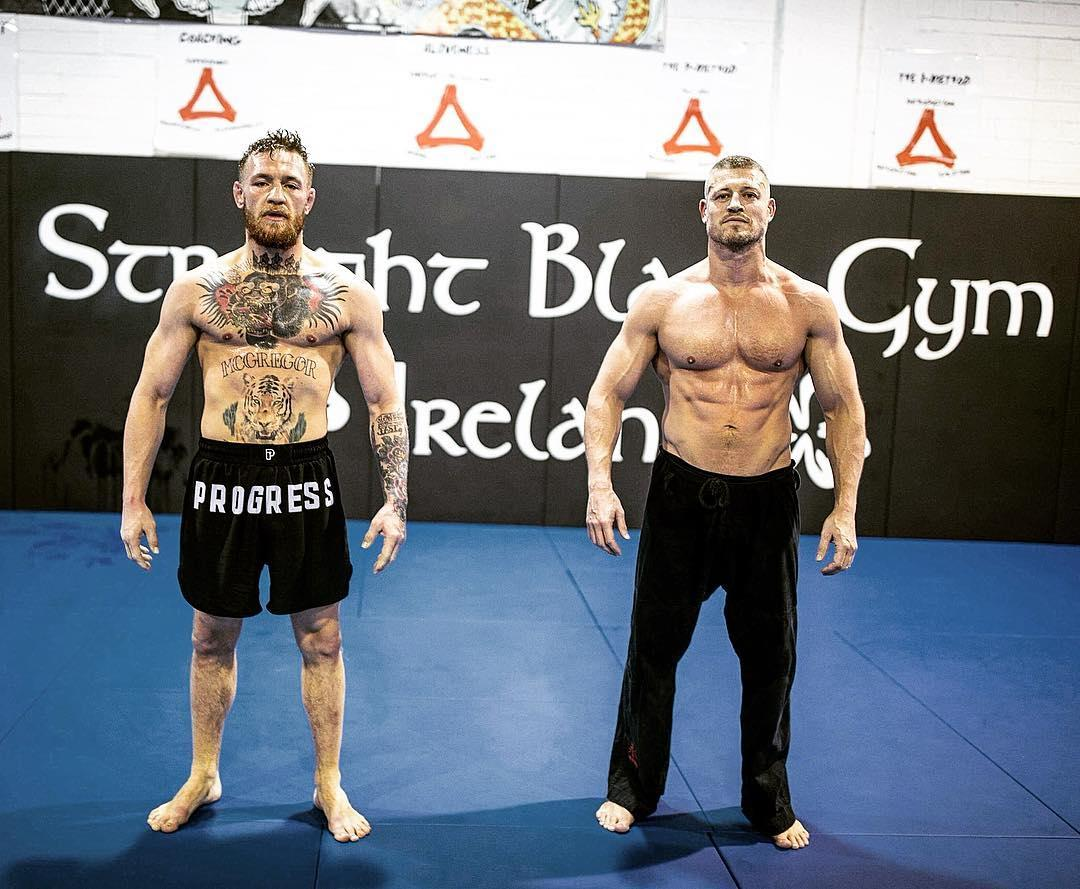 Conor McGregor and solicitor Graham Kelly train together