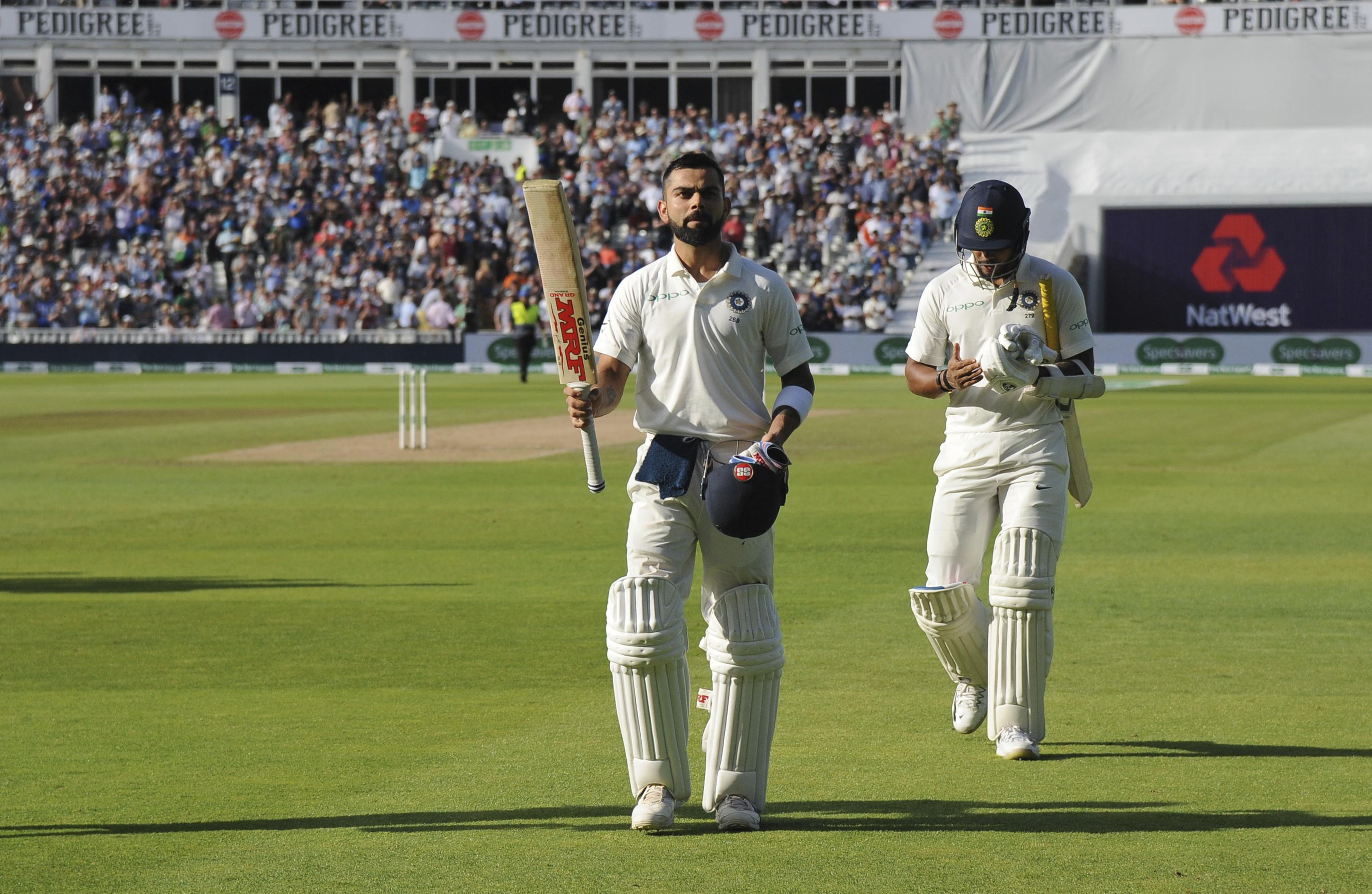 Virat Kohli left the field to a standing ovation after his 149