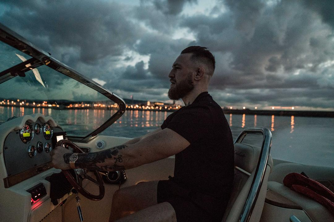 Conor McGregor took his boat out in order to swim in the Irish Sea