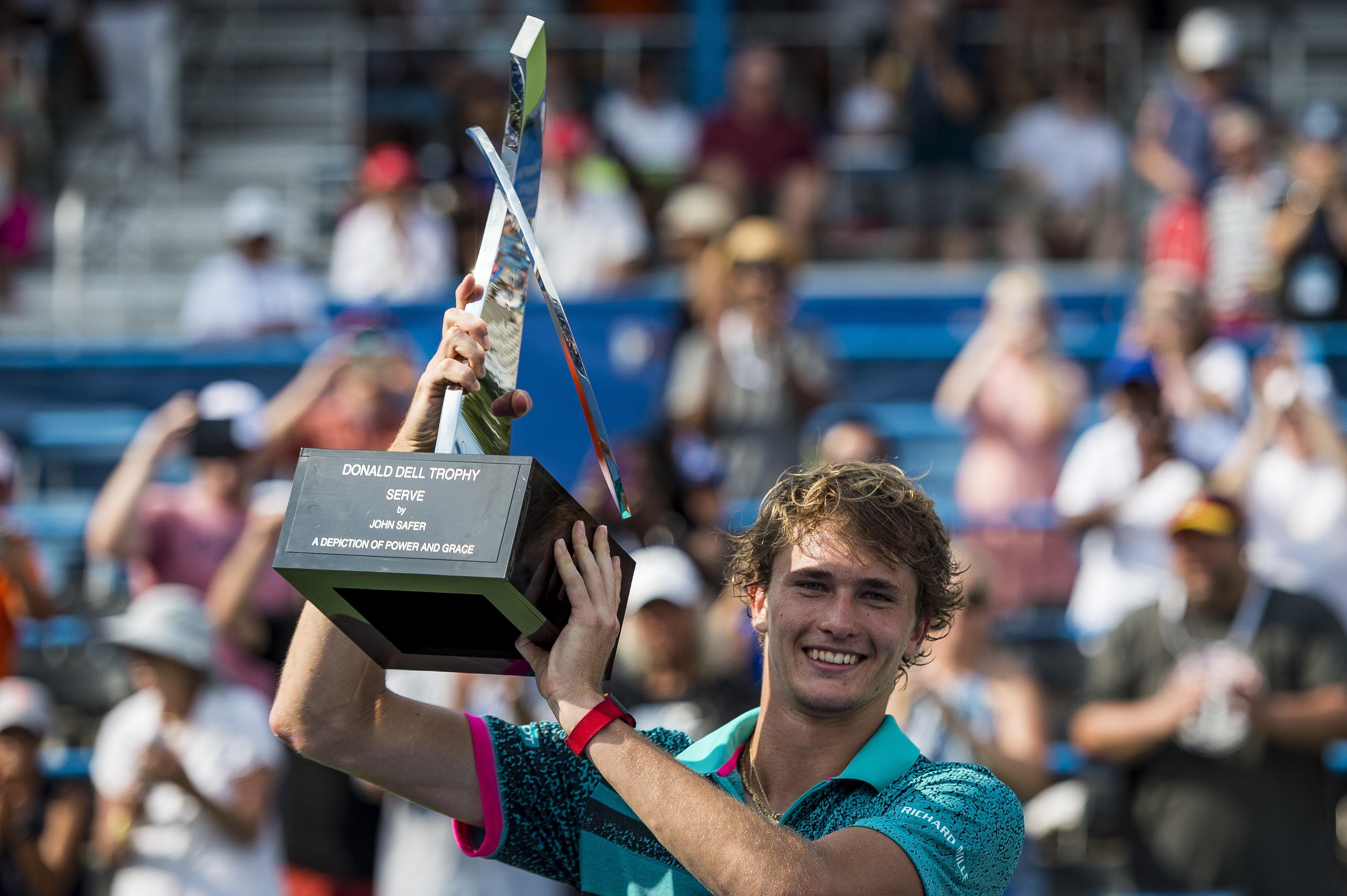Zverev won the Citi Open in Washington earlier this month, good preparation ahead of Flushing Meadows