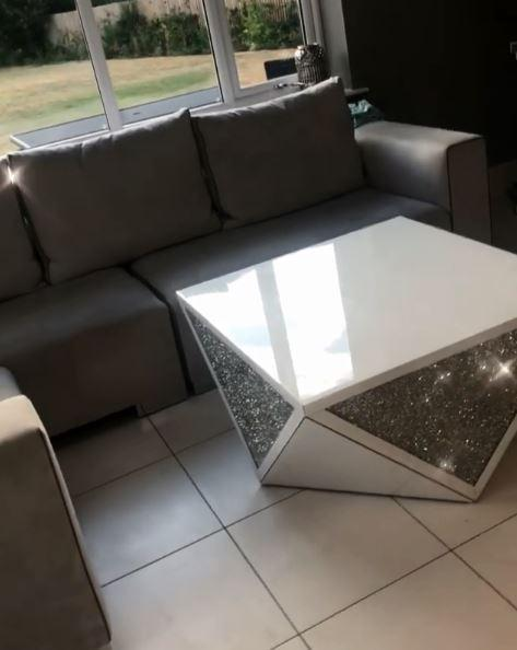 Even the coffee table sparkled