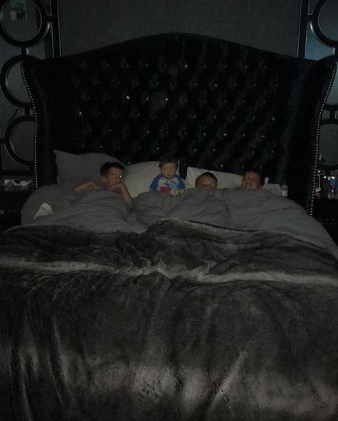 The beds are big enough for four kids in Danielle's house