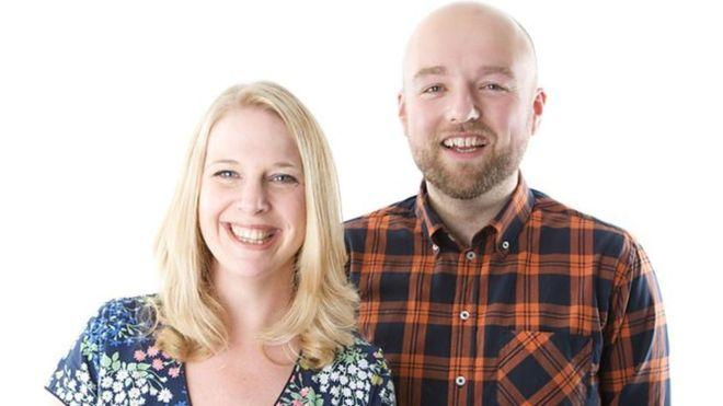 Vicki presented the 3-7pm afternoon show with Adam Green, pictured