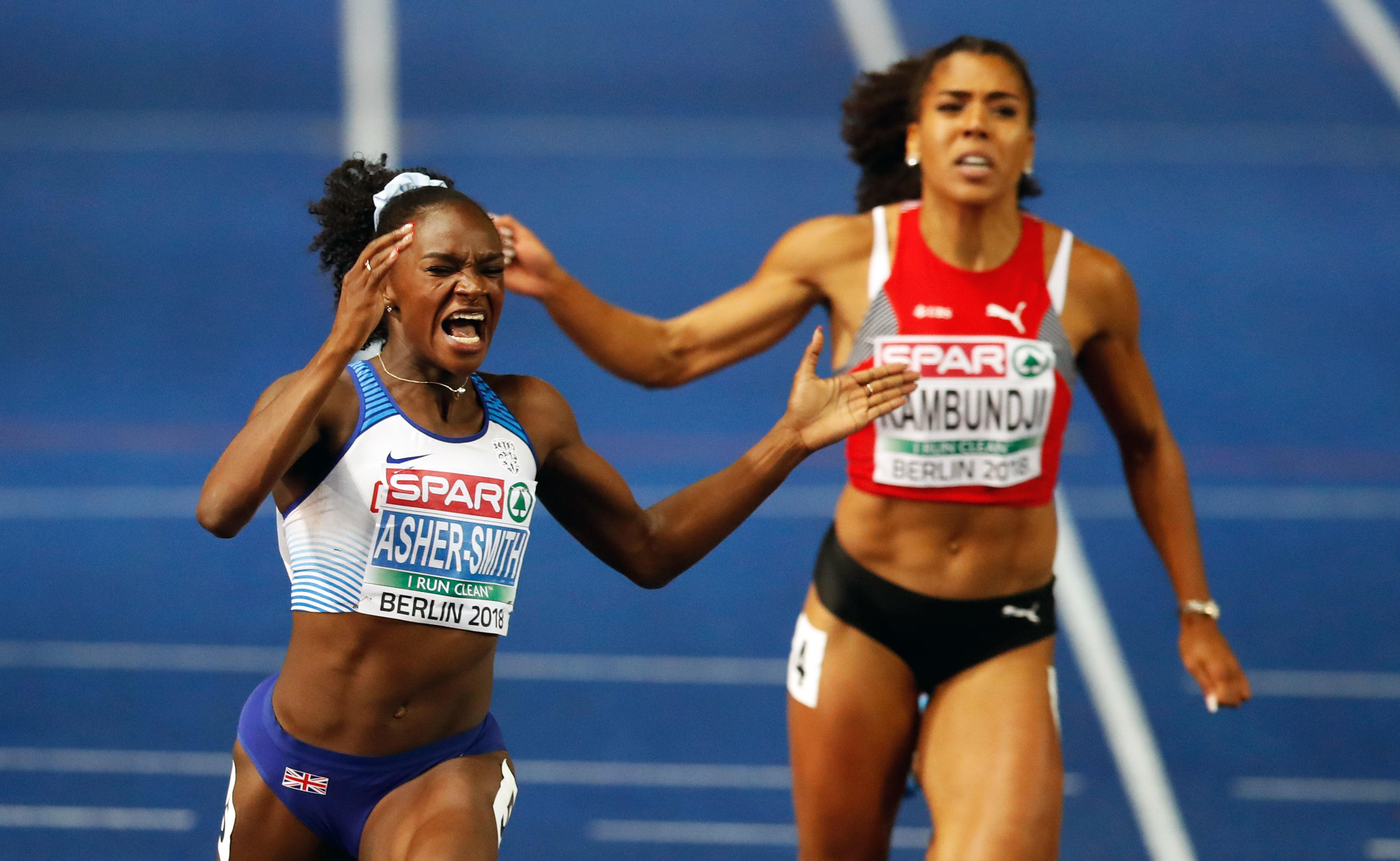Asher-Smith was overjoyed at beating her personal best and claiming the European title in Berlin