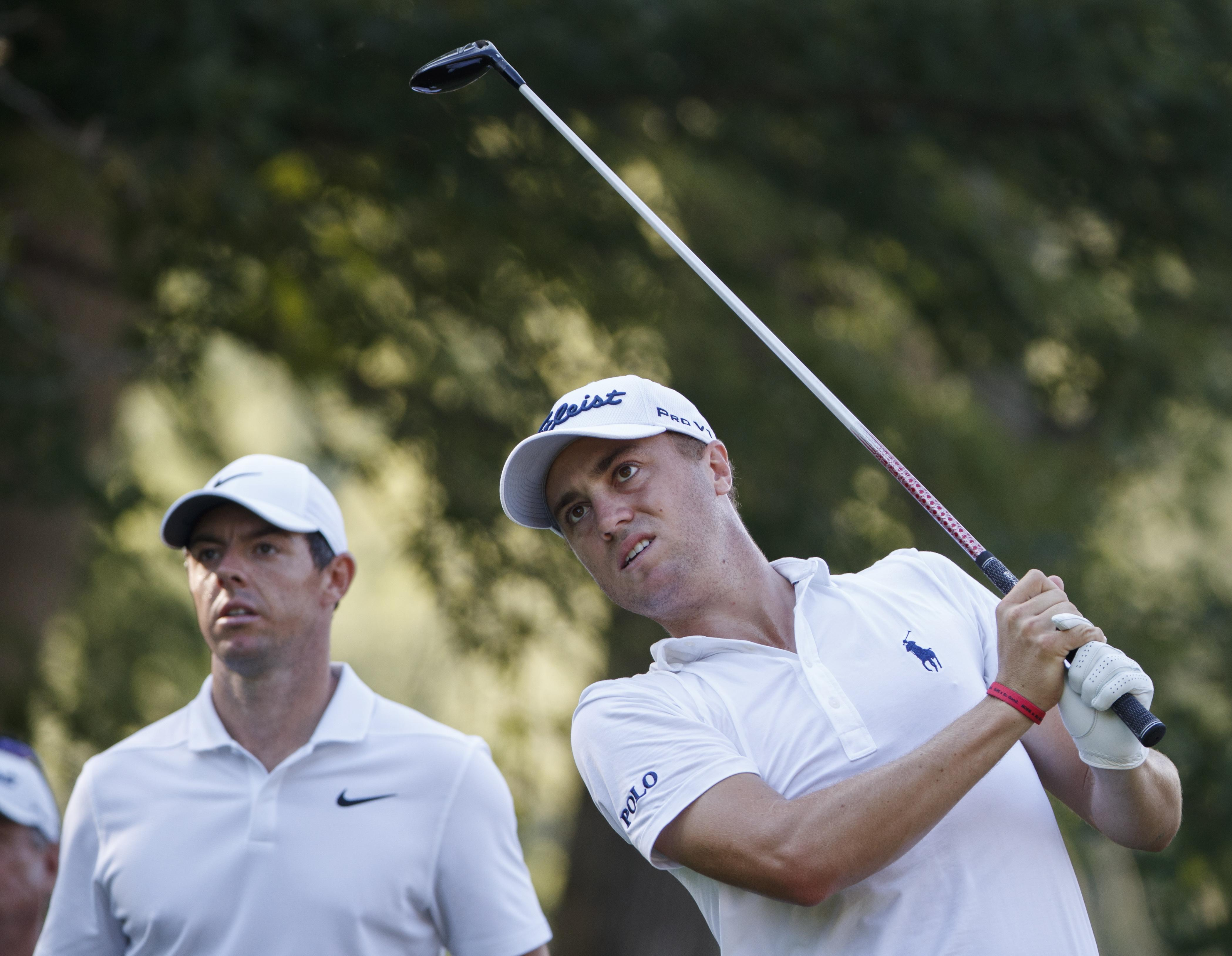 Justin Thomas fired a one-under 69 while Rory McIlroy got it round in level