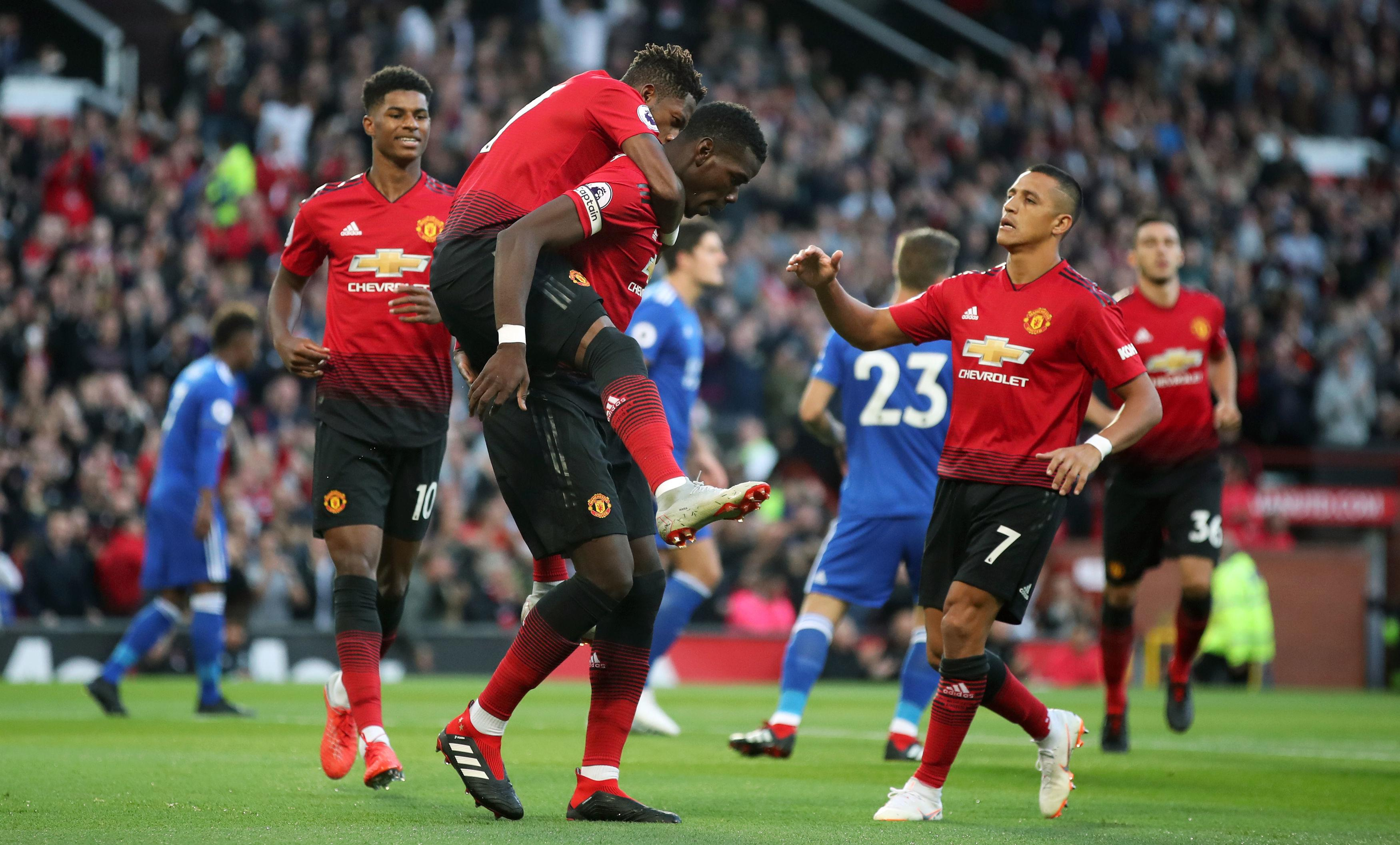 Paul Pogba got Manchester United off to a flyer against Leicester