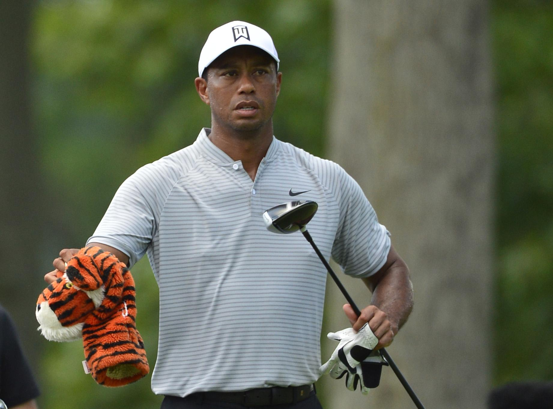 Tiger Woods birdied three of his first five holes