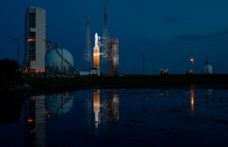 Hundreds gathered in Cape Canaveral, Florida, to watch the rocket blast off