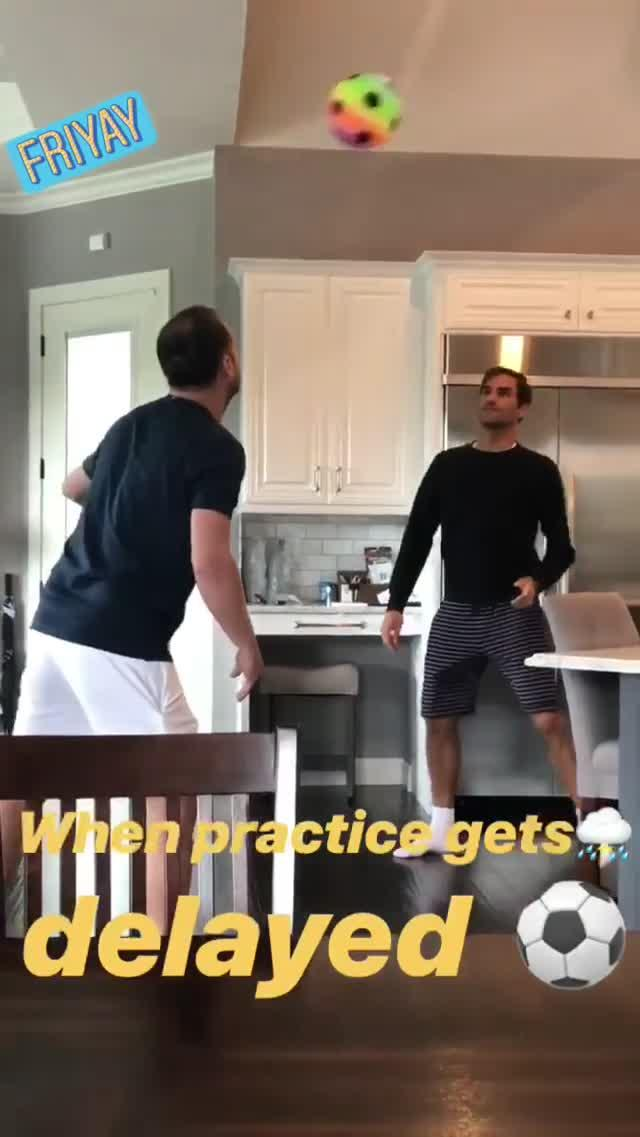 Roger Federer shows off his football skills on his Instagram page