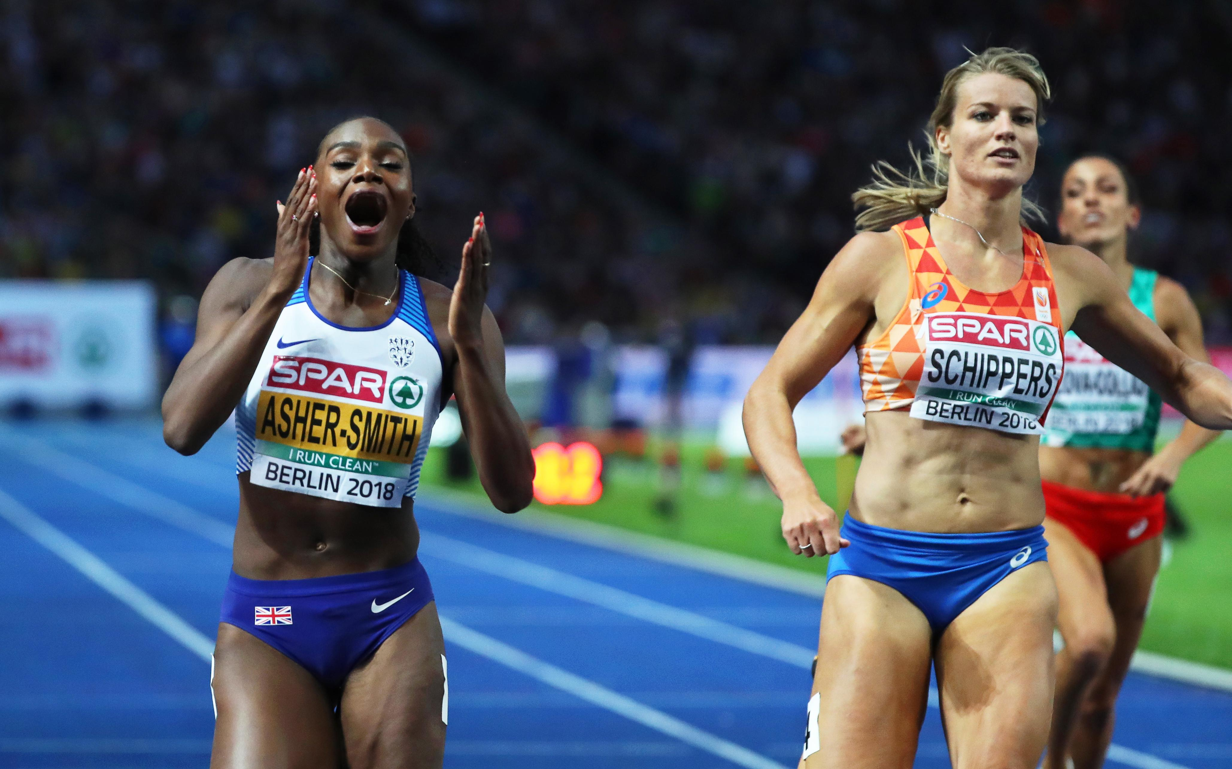 Dina Asher-Smith battled past dominant Dafne Schippers to clinch gold