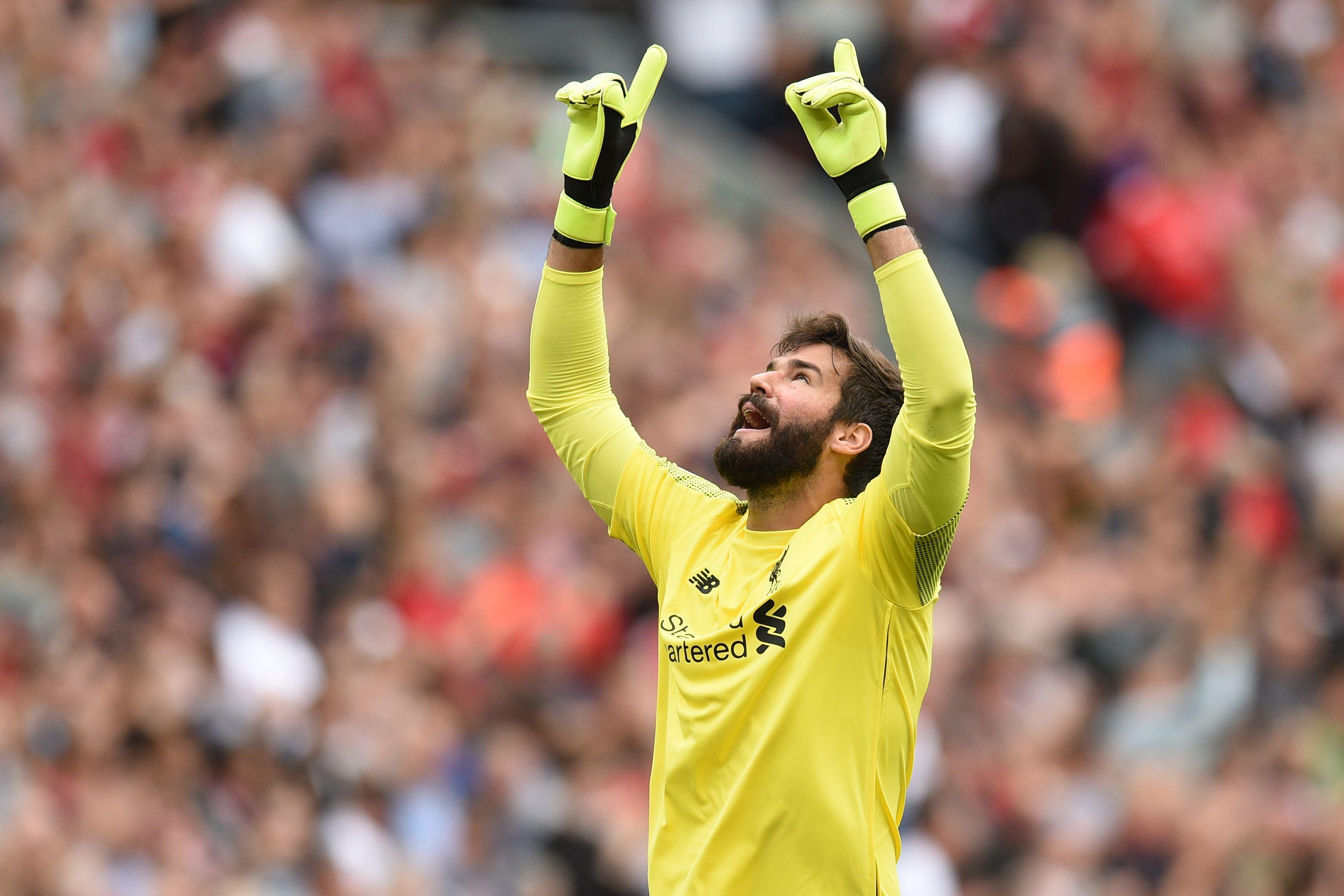 New goalkeeper Alisson had very little to do on his debut