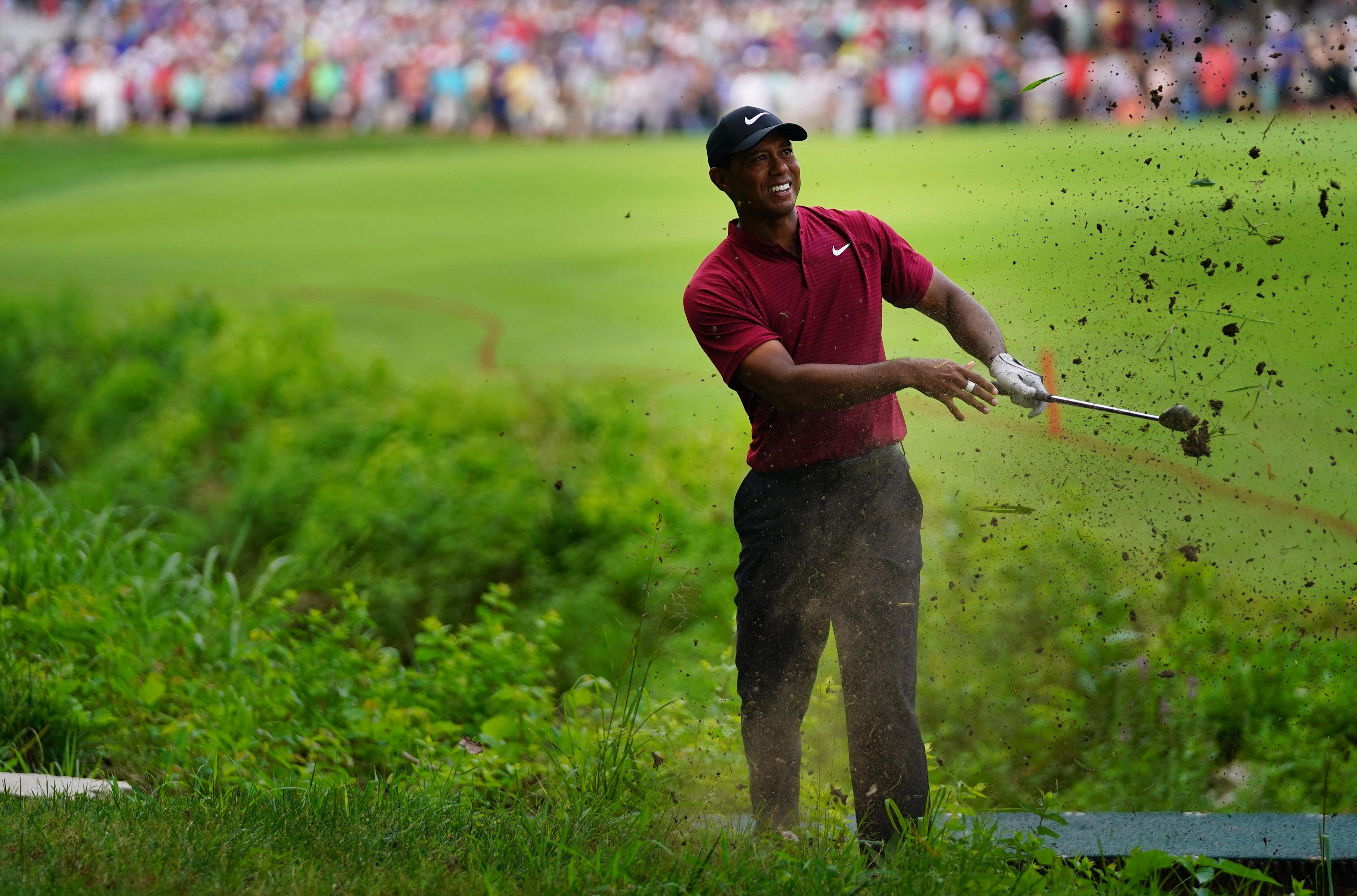 Tiger Woods got himself out of some sticky spots as he finsihed the US PGA Open with a 64