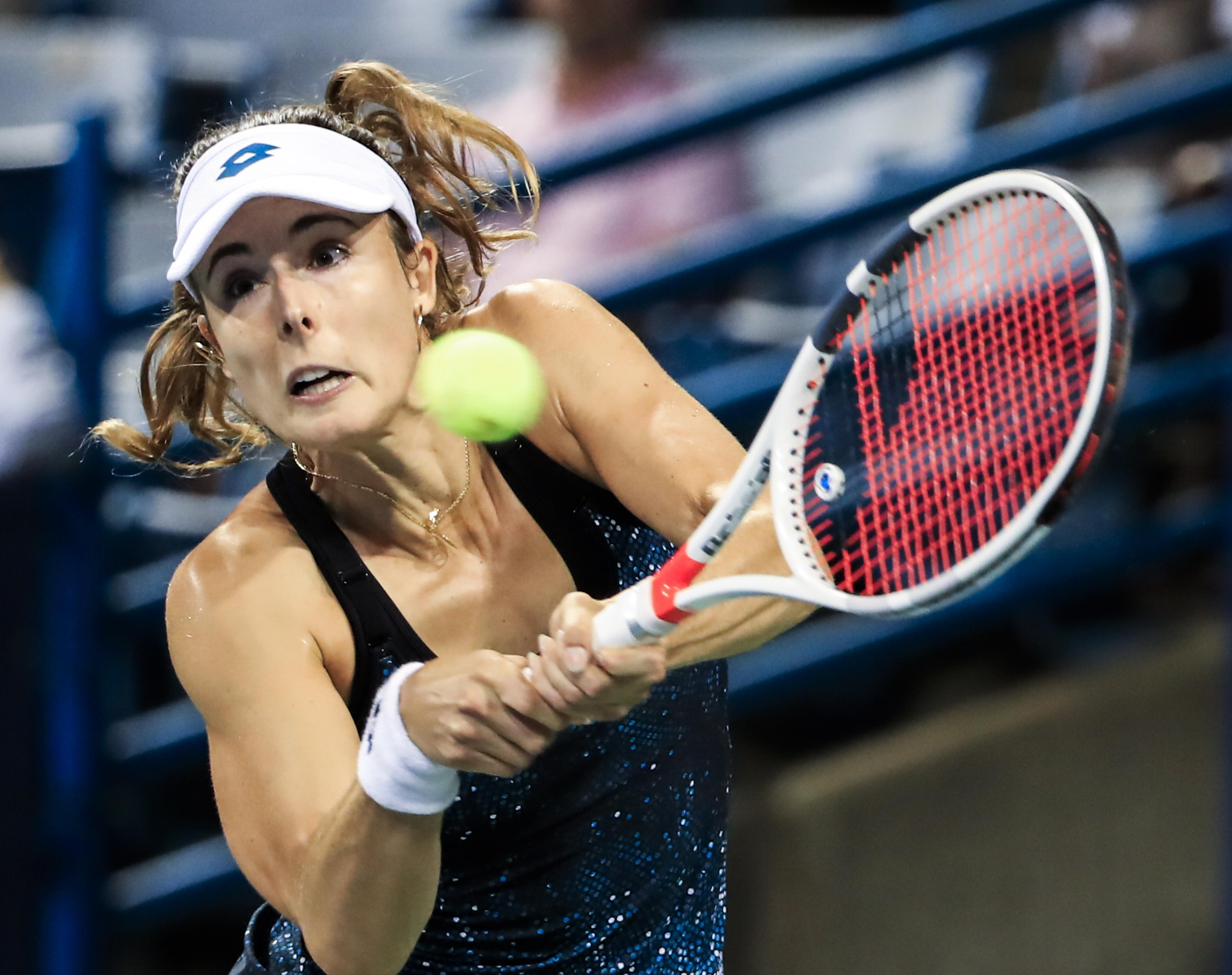 Alize Cornet was dumped out of the US Open