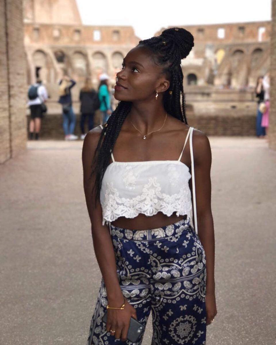 Asher-Smith on holiday in Rome last year