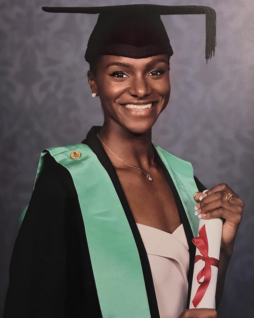 Londoner Asher-Smith graduated from King's College London in 2017 with a degree in History