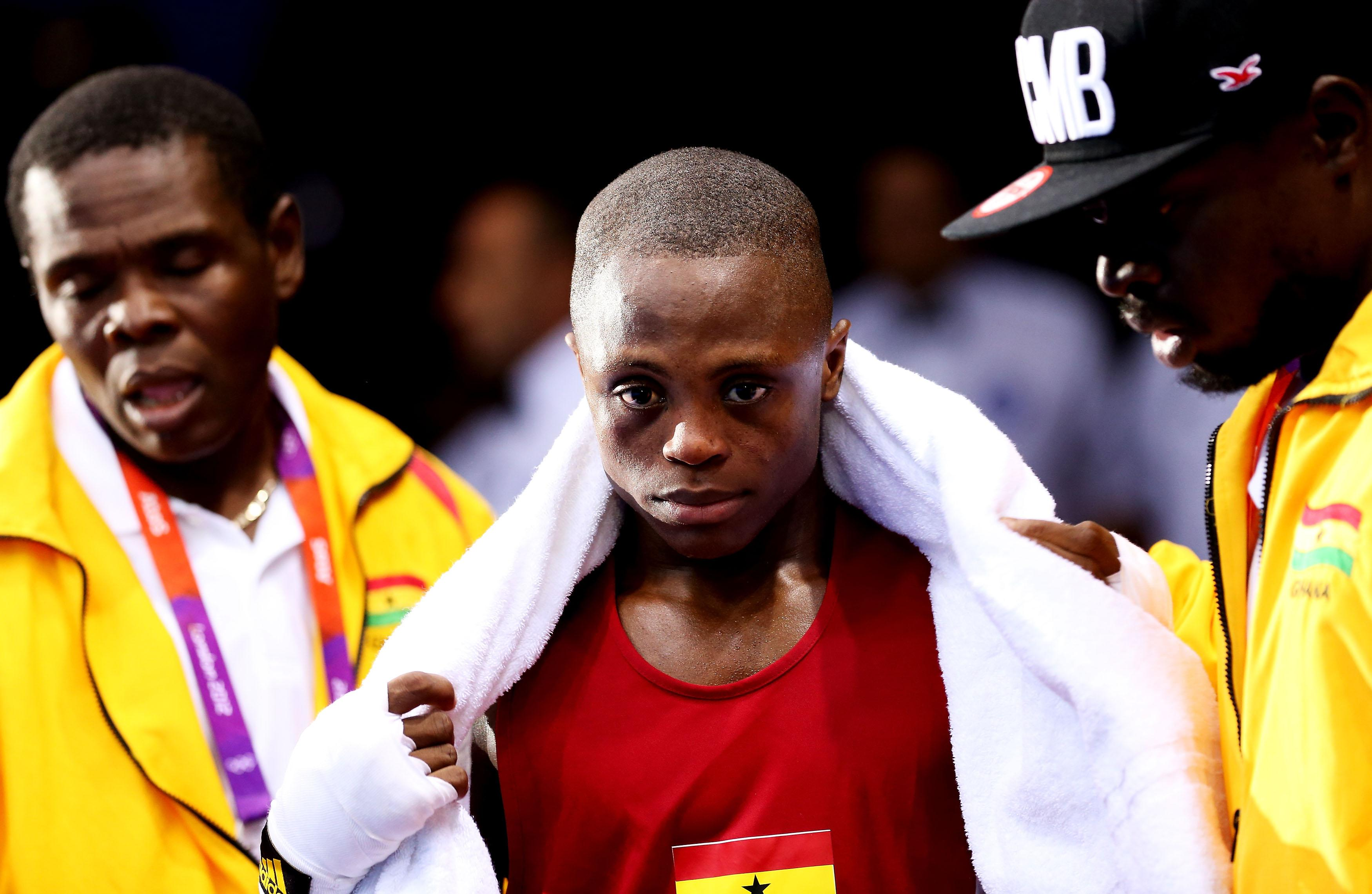 London 2012 was the scene of a daylight robbery as 17-year-old Dogboe was robbed
