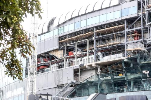small resolution of the opening of the stadium has been delayed because of faulty wiring