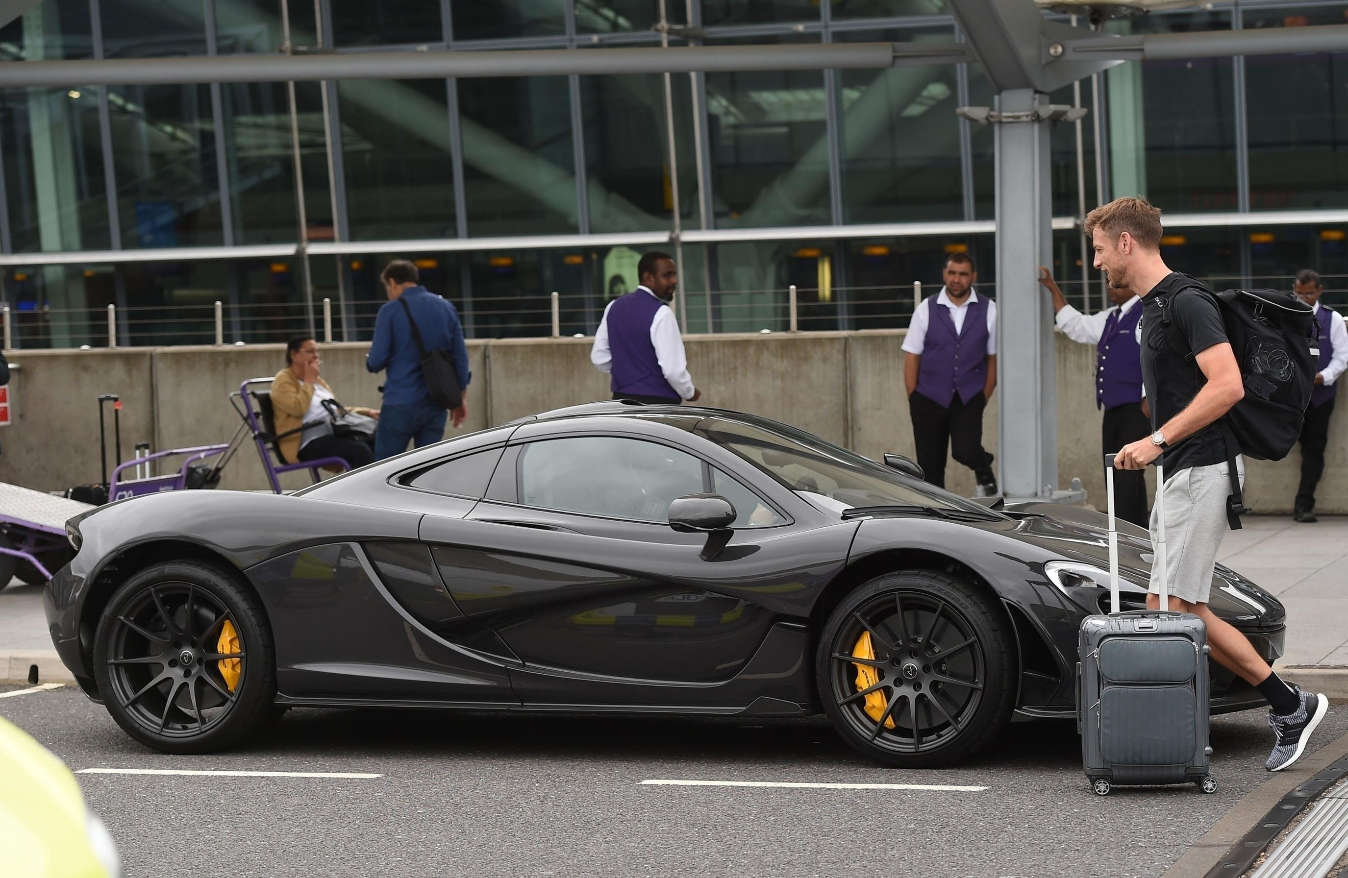 The special car was waiting for Button as he arrived in the UK