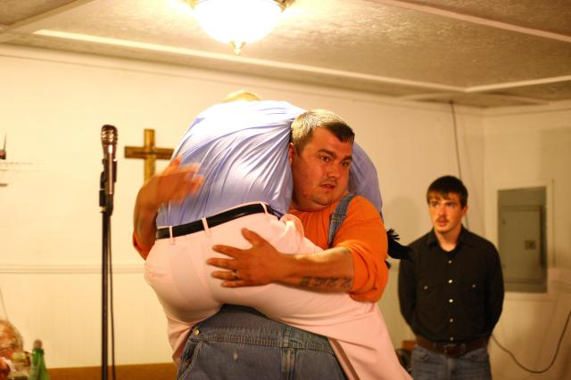 Cody was so weak after the bite his friend, also called Cody, had to carry him out of the church