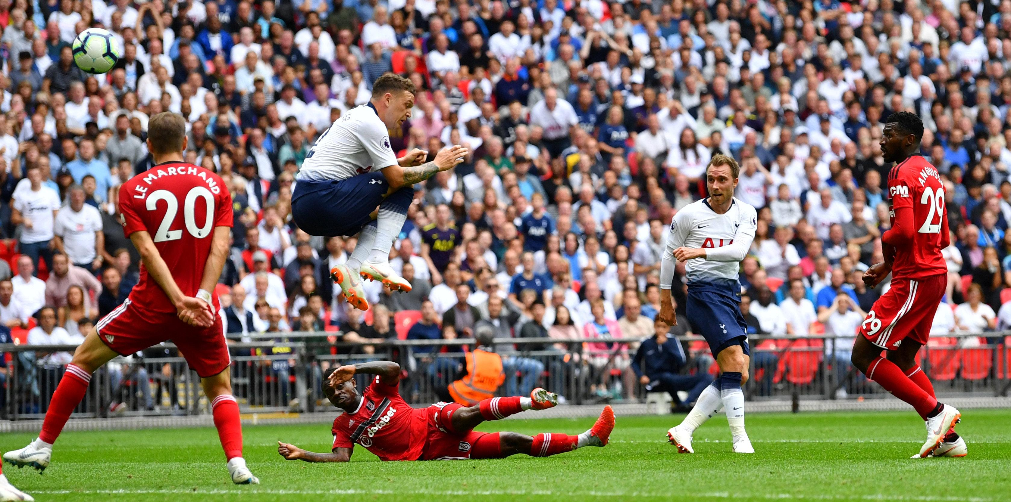 Lucas Moura bagged this fine curling effort to down Fulham