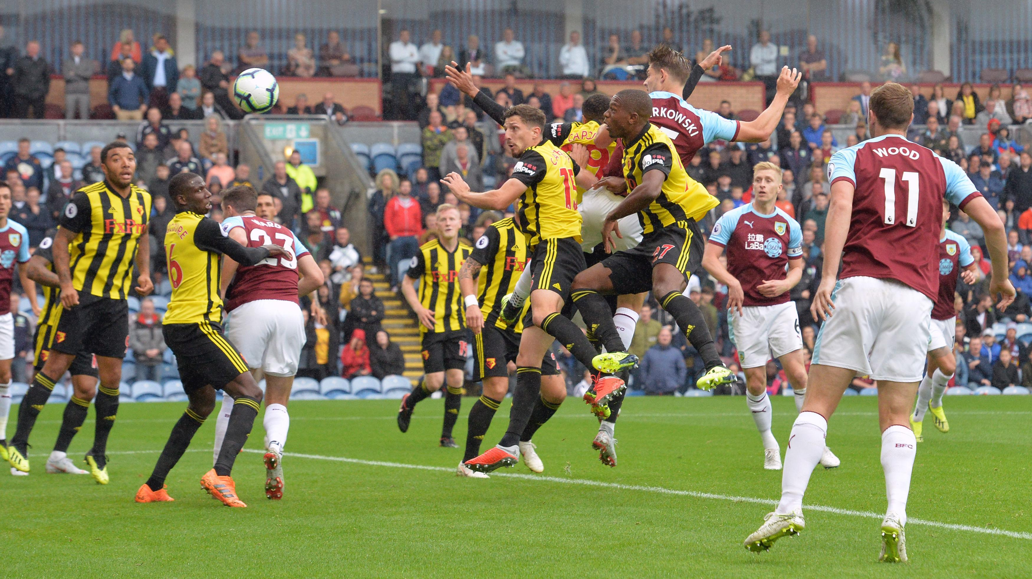Burnley centre-back James Tarkowski equalised with a clinical header in the sixth minute
