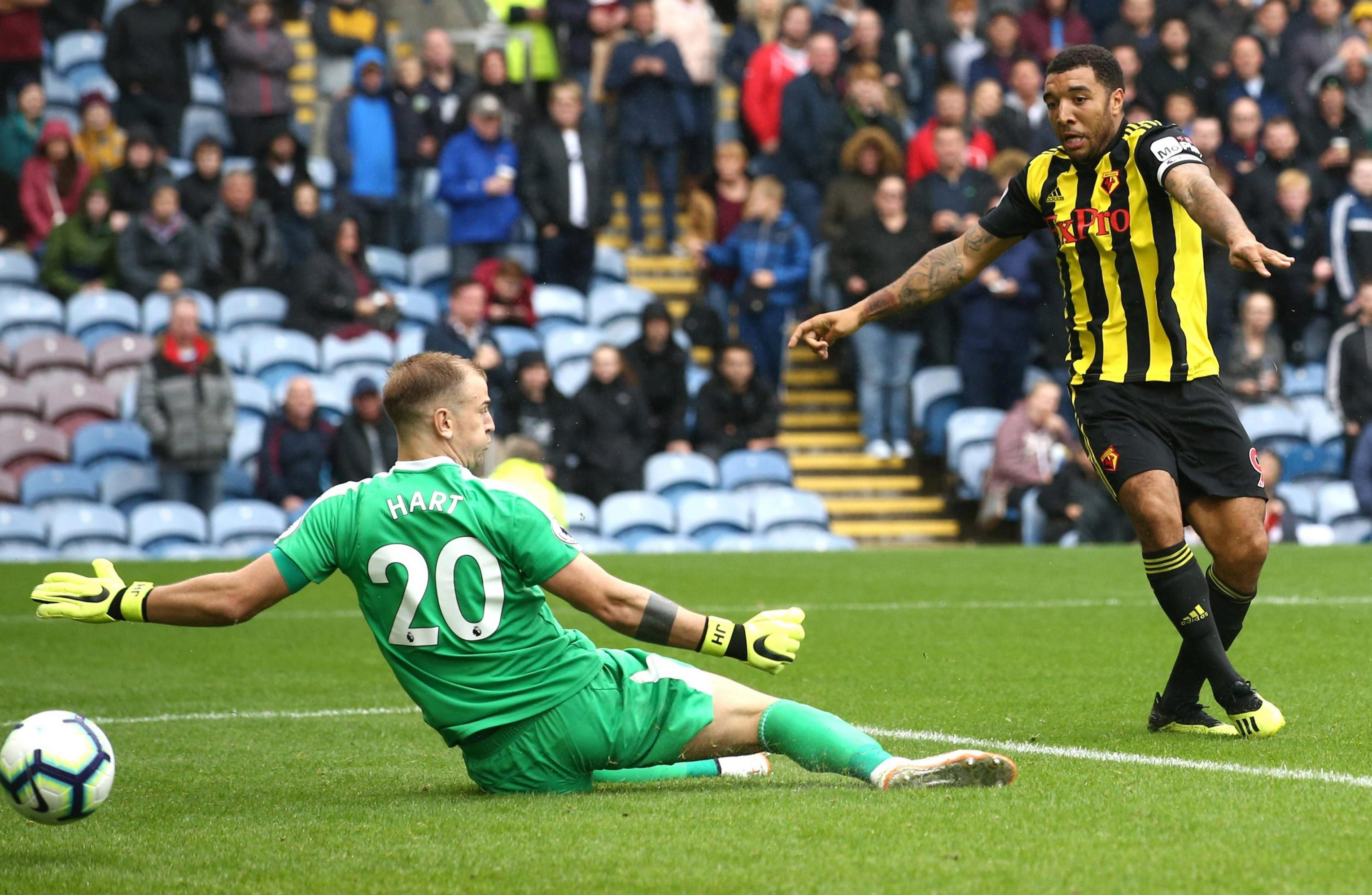 Troy Deeney restored Watford's lead just after the break with a shot from close range