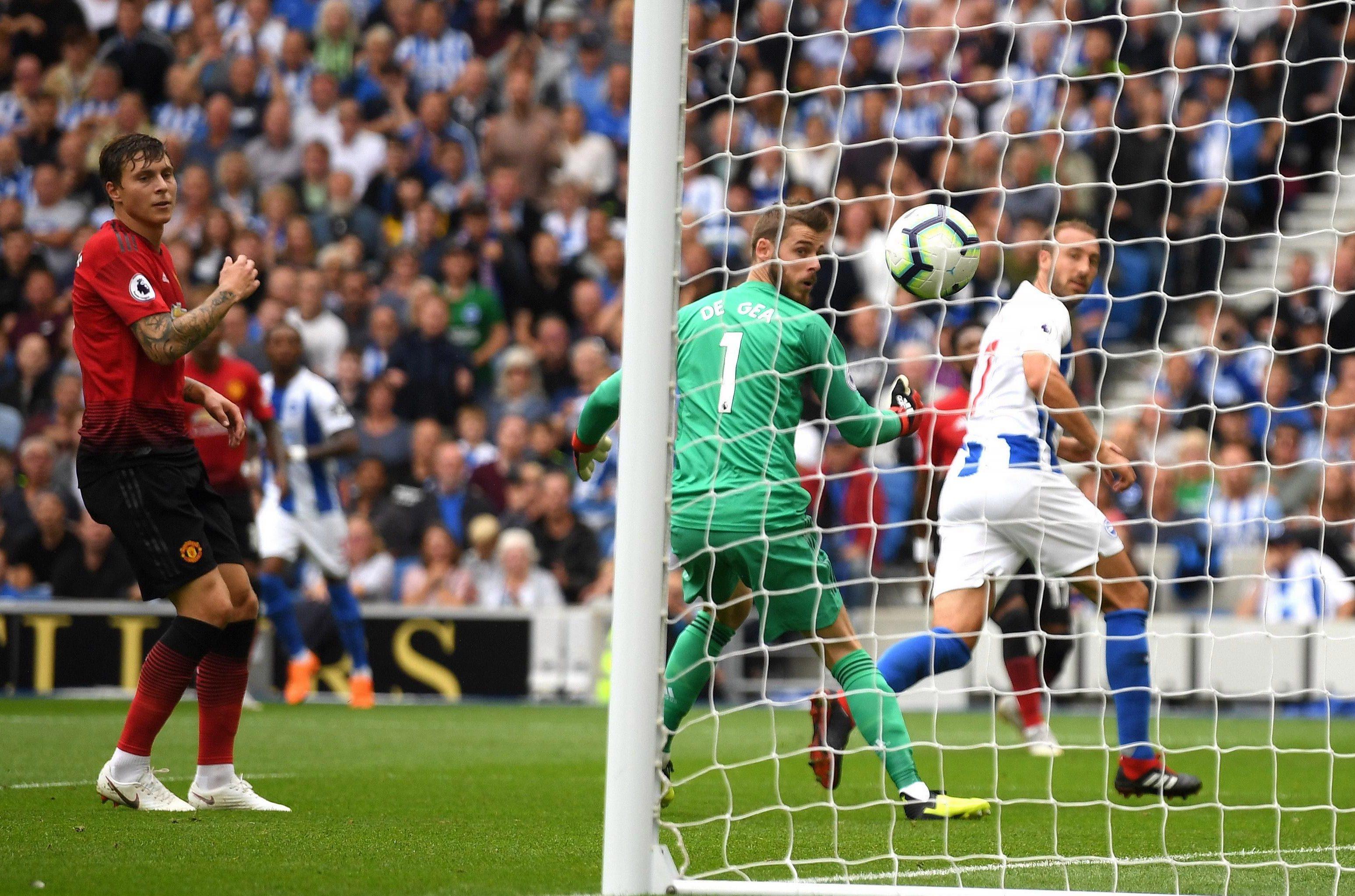 Glenn Murray rolled back the years to break the deadlock against Man United