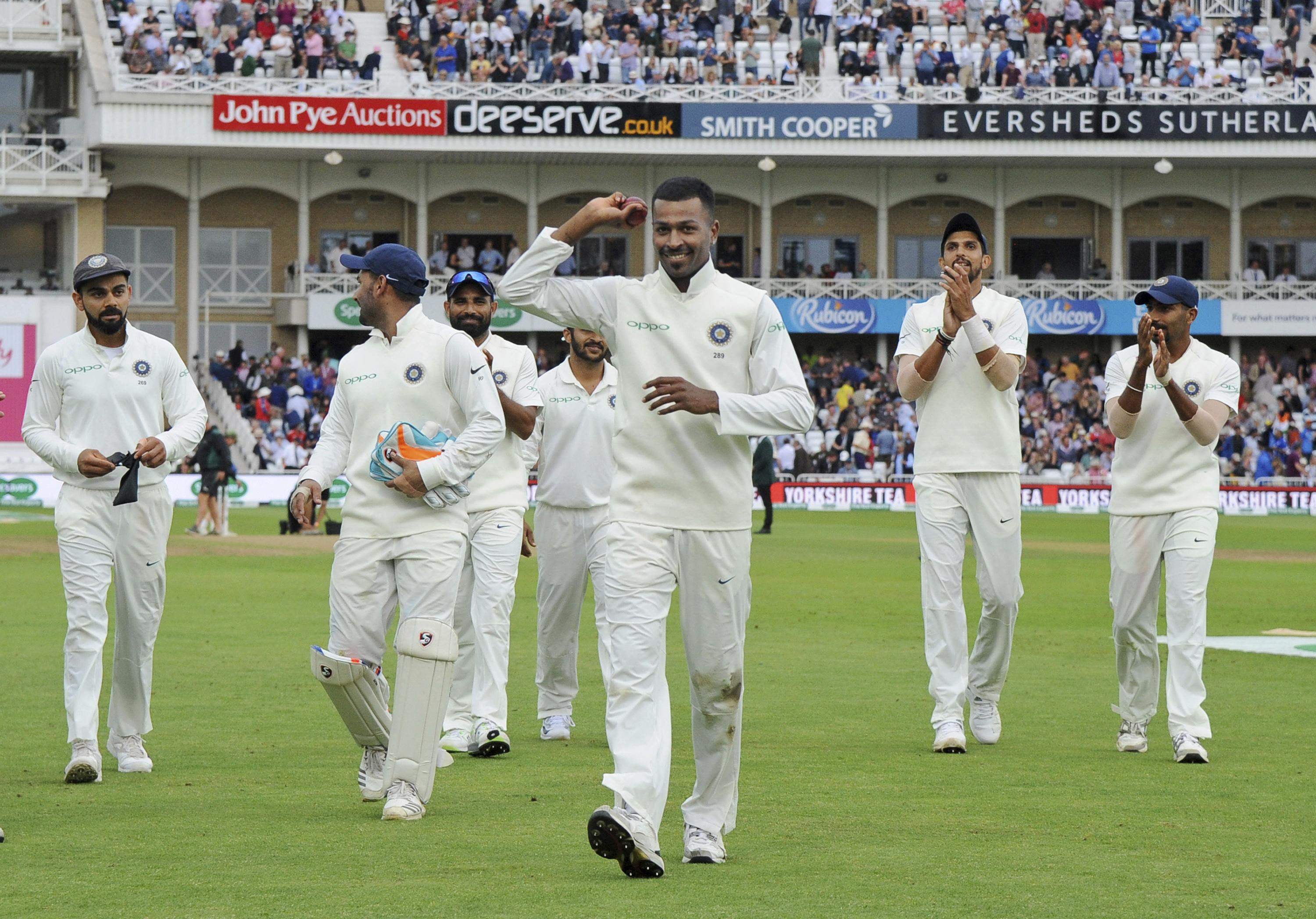Hardik Pandya took five wickets in just 29 deliveries, his first five-wicket Test haul