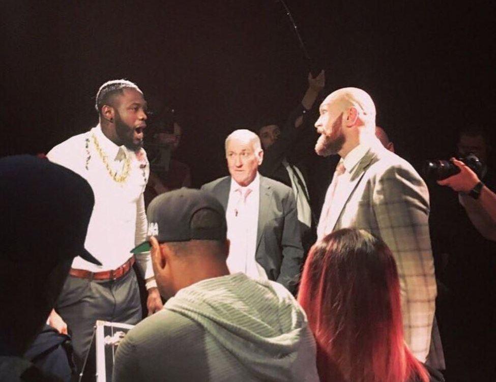 Wilder, 32, travelled to Belfast to watch Fury in action against Francesco Pianeta at Windsor Park