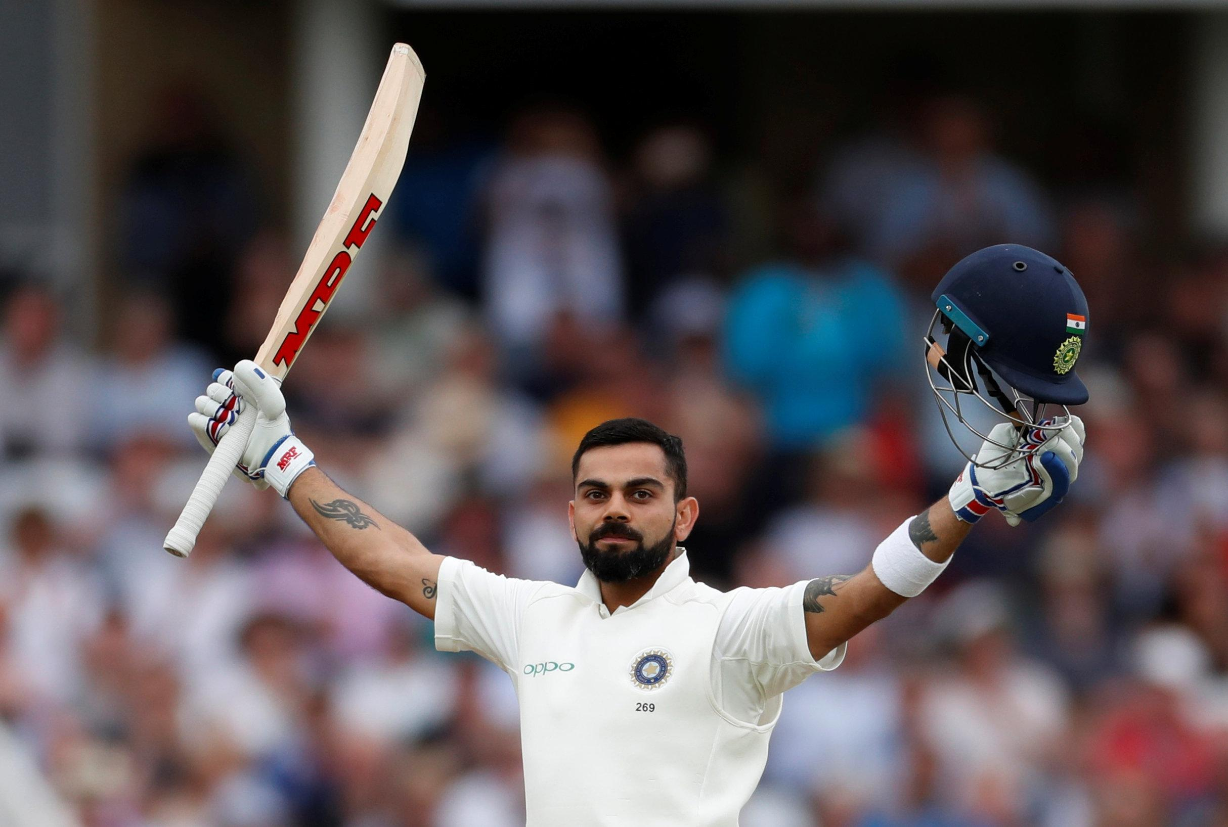 Kohli scored 97 and 103 in Nottingham, the second time he has scored exactly 200 in a Test match in this series