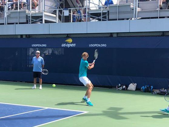 "Zverev has been training at Flushing Meadows ahead of the US Open and posted the message ""Welcome to the team Ivan Lendl"""