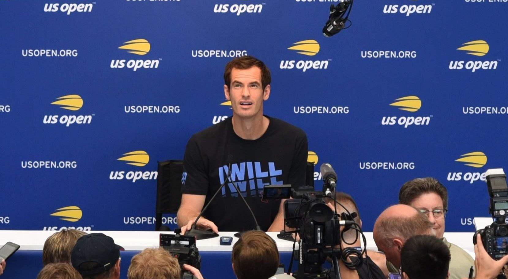 Andy Murray has written off his chances at Monday's US Open