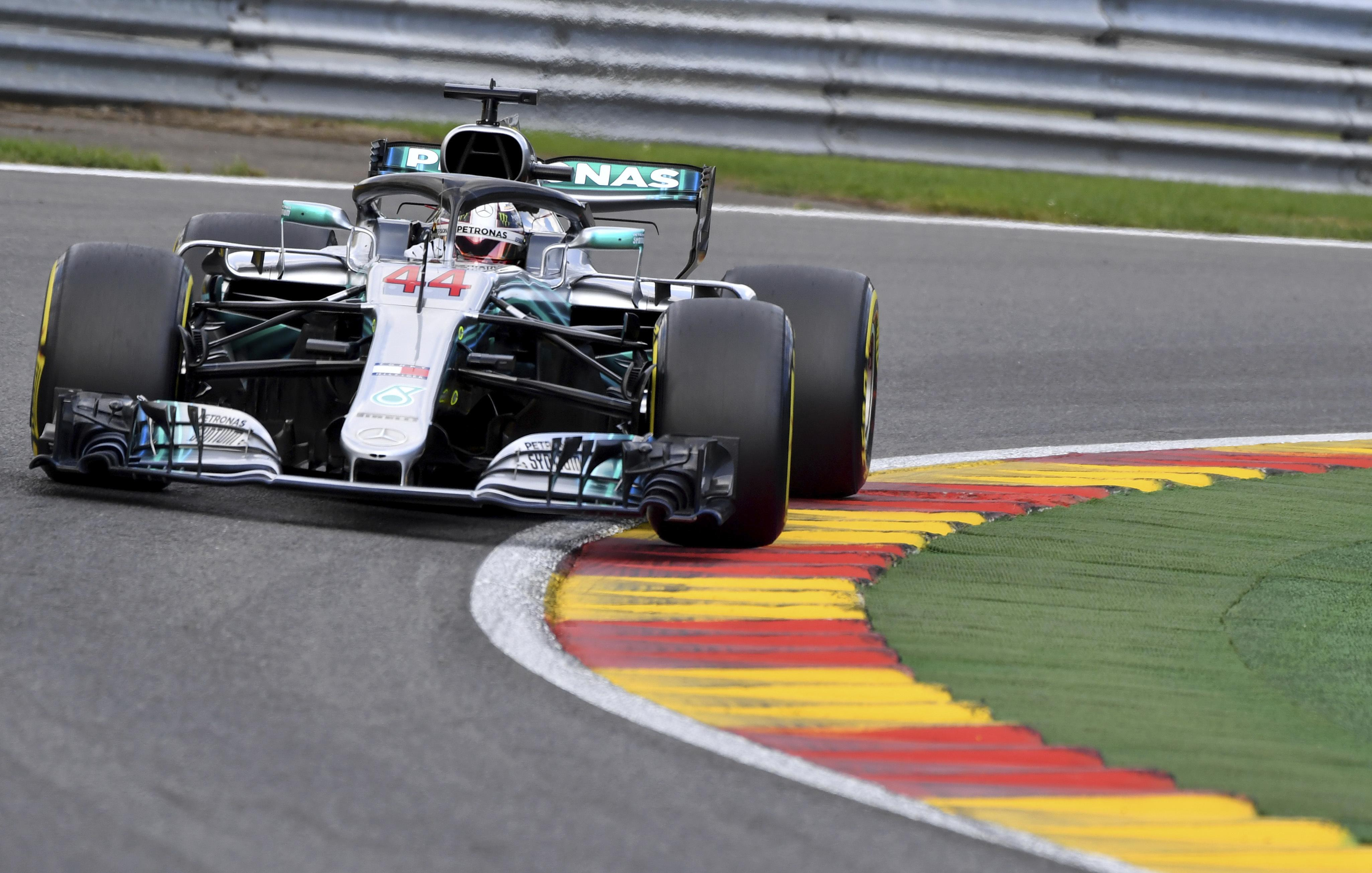 Hamilton leads the drivers' championship by 24 points from Sebastian Vettel