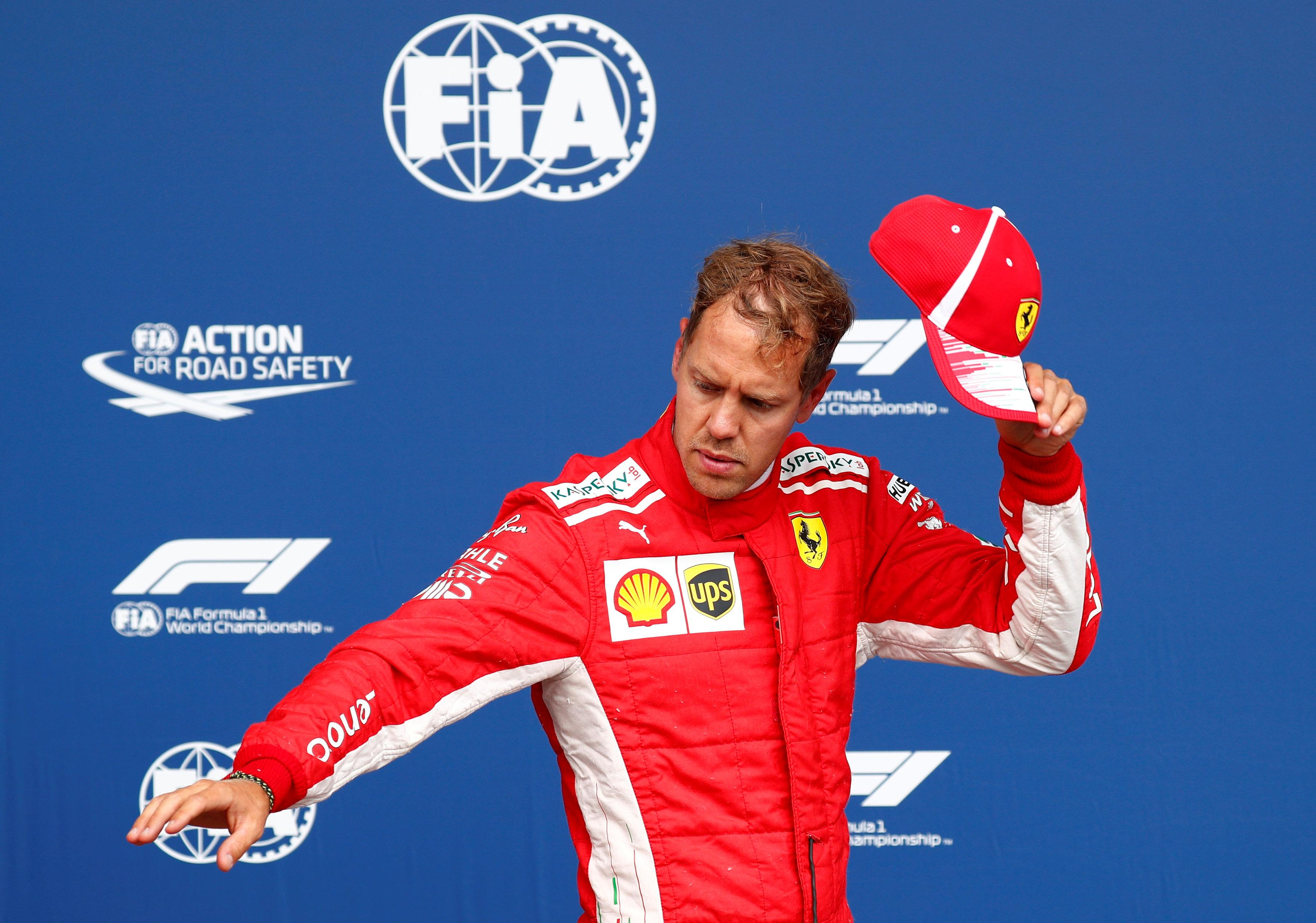 Vettel will start the Belgian Grand Prix from second on the grid with Esteban Ocon third