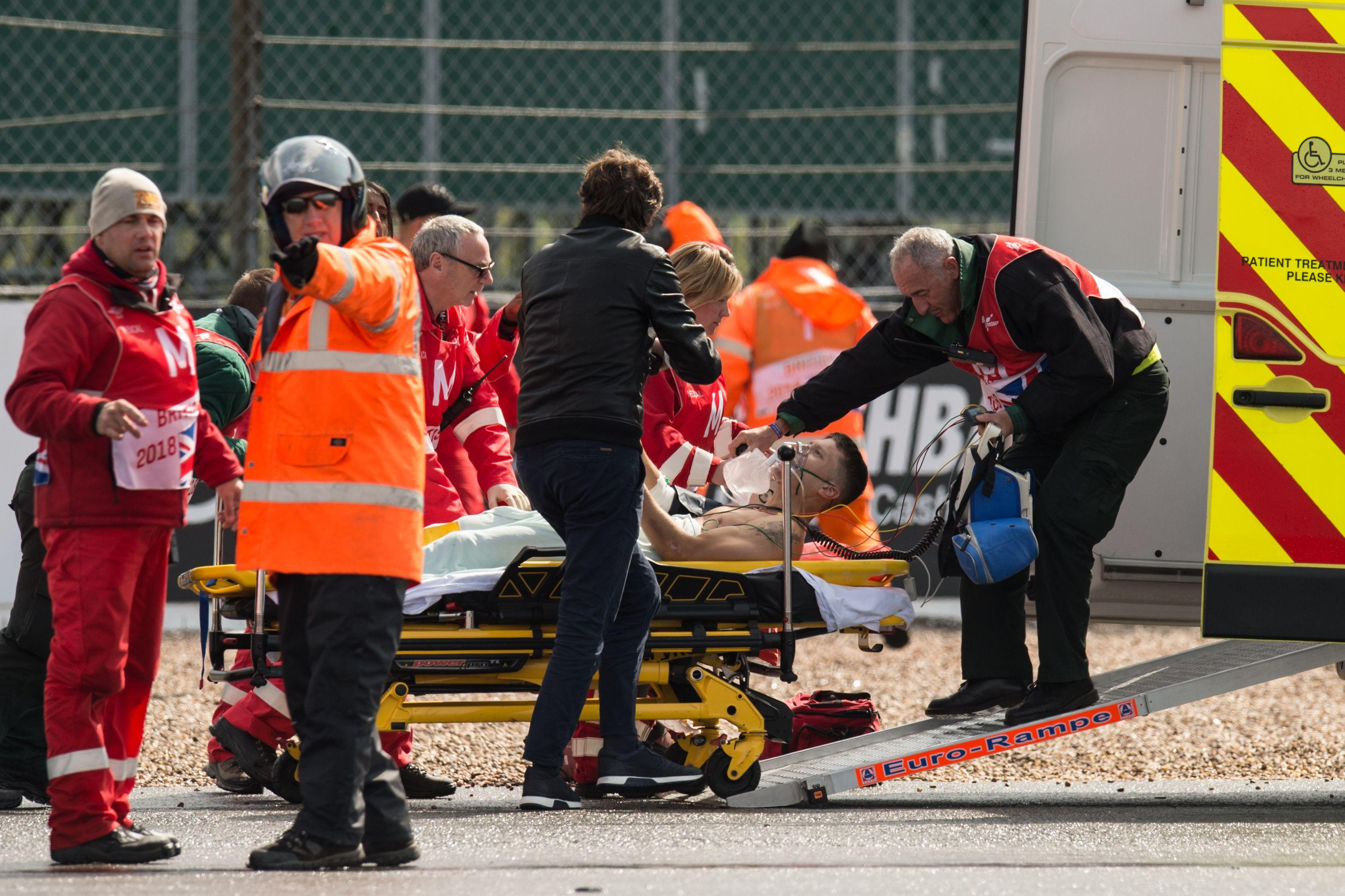 Qualifying for the British MotoGP was delayed following the accident involving Tito Rabat