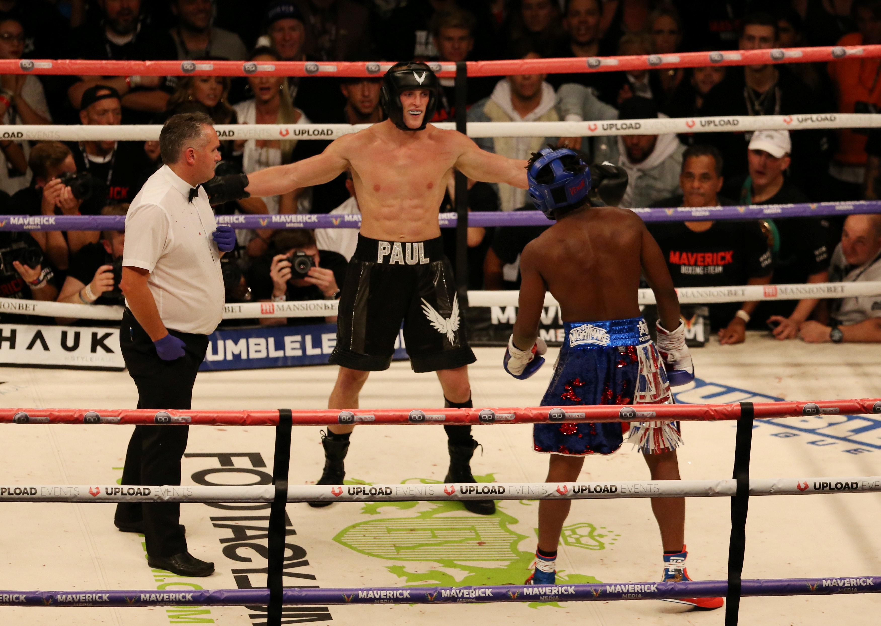 Logan Paul dominated KSI but the bout was scored a draw