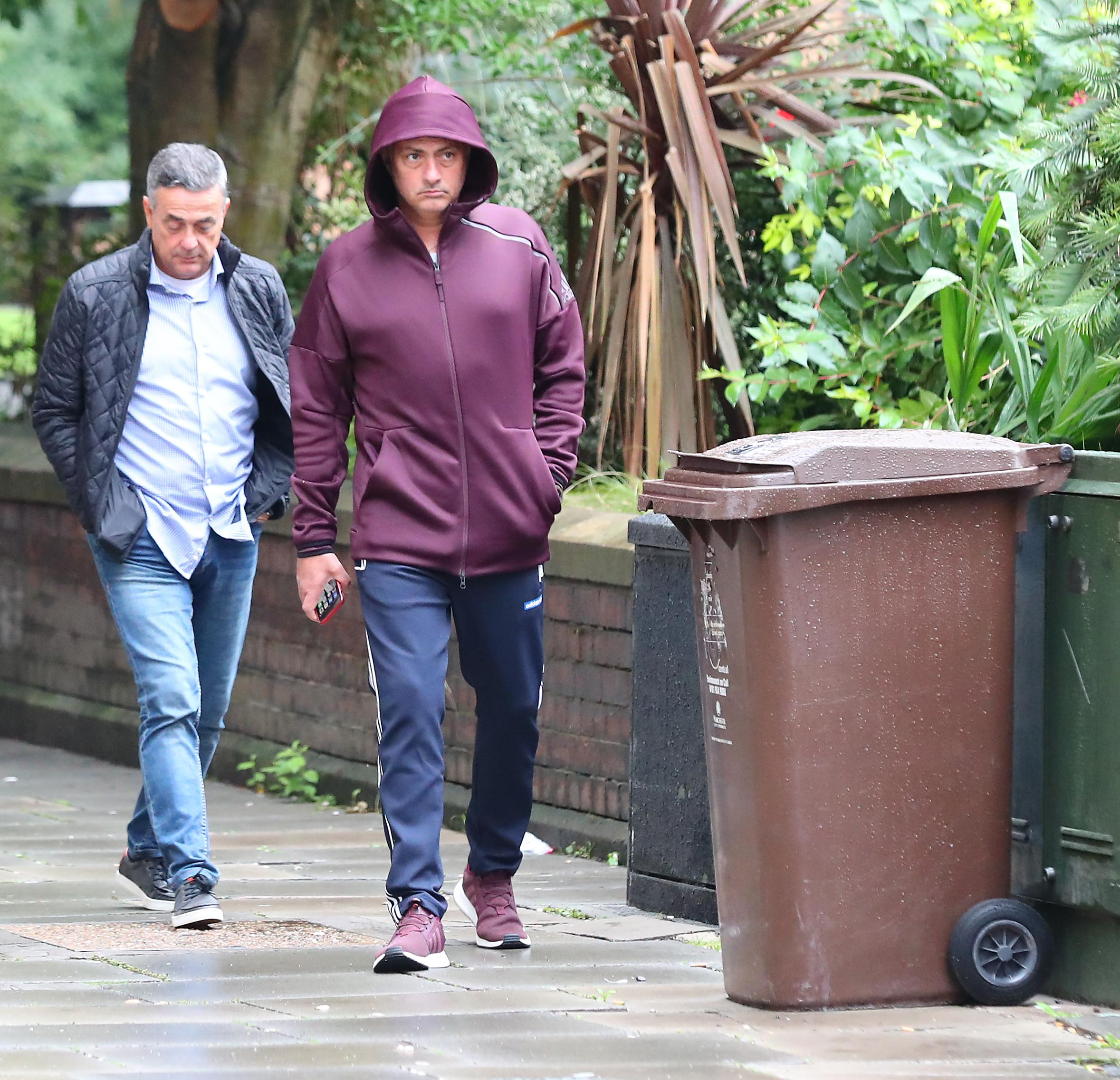 Mourinho heads out for a bite to eat in Manchester