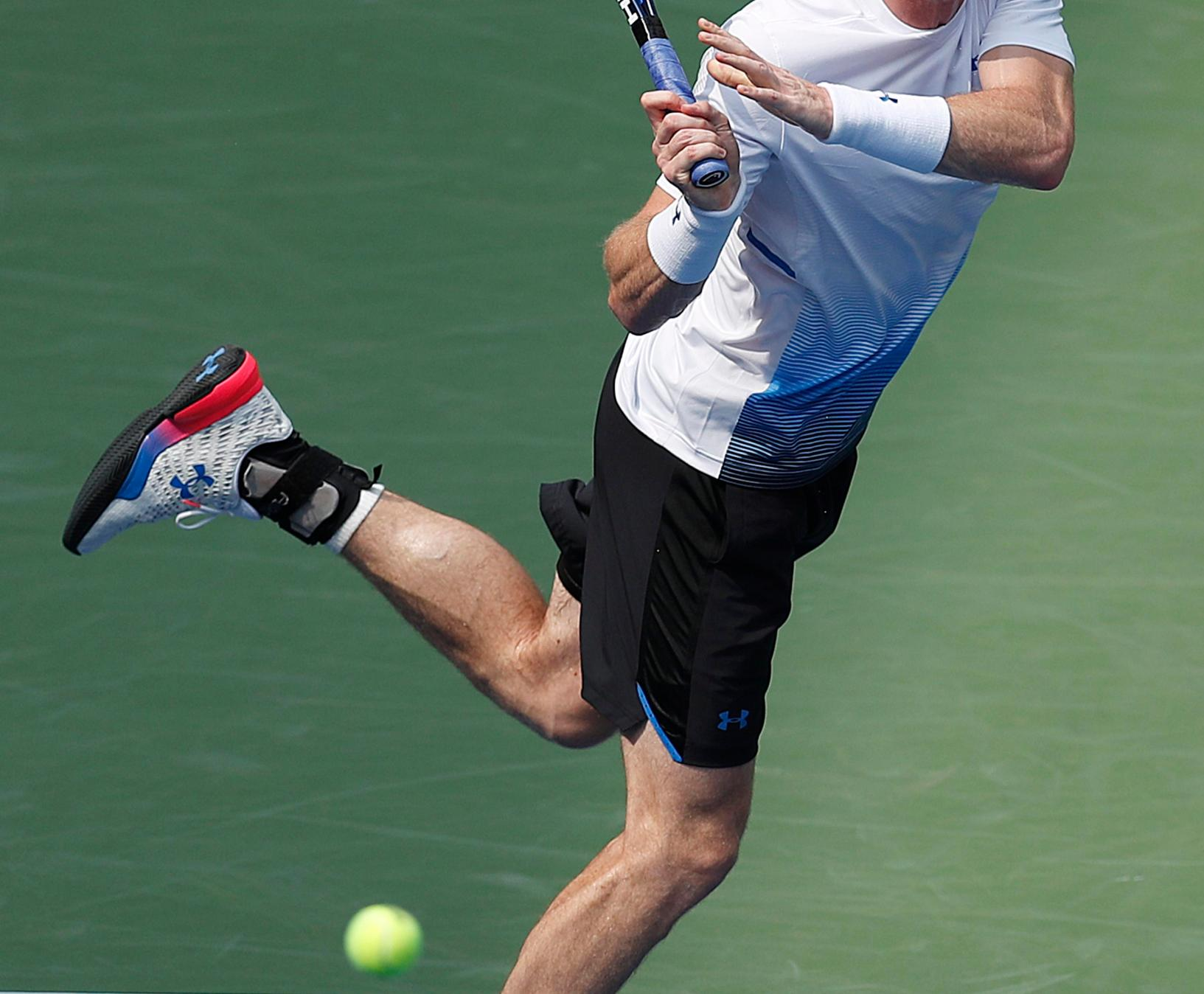Andy Murray looked quite sharp as he battled to a four-set win over Australian big-server James Duckworth at Flushing Meadows