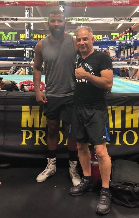 Two-weight king Badou Jack was at the Mayweather gym to meet the London fighters