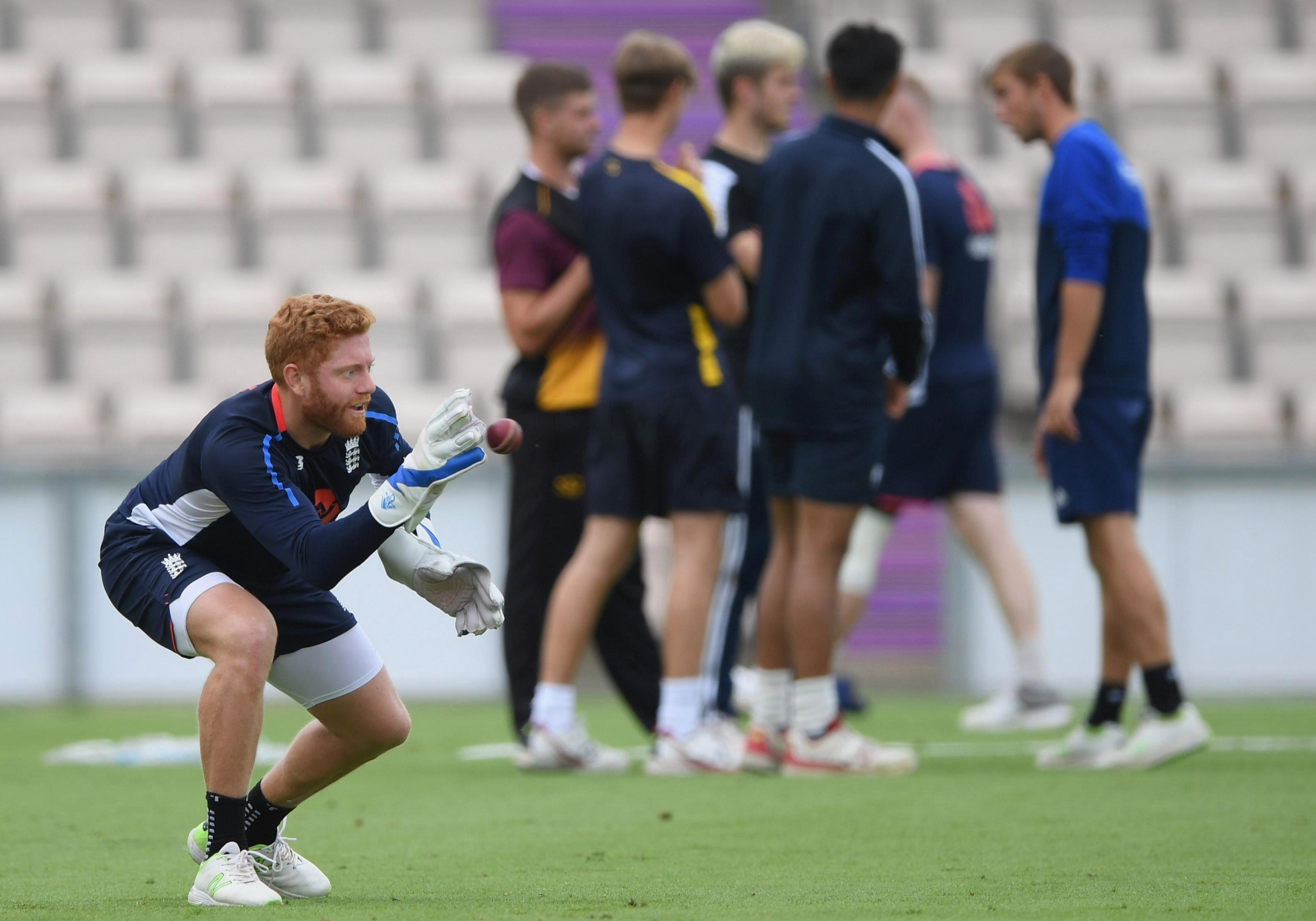 Bairstow practised with the gloves on during a training session on Tuesday