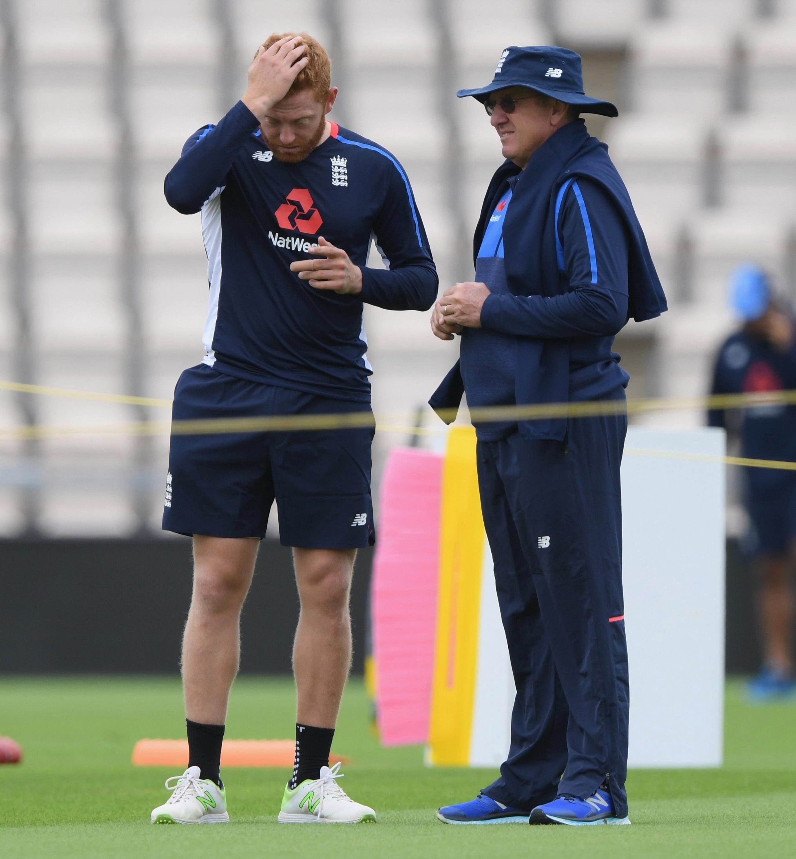 Bairstow showed signs of frustration during a 20-minute chat with Bayliss